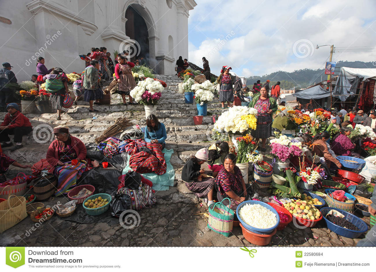 Mercado en Chichicastenango, Guatemala
