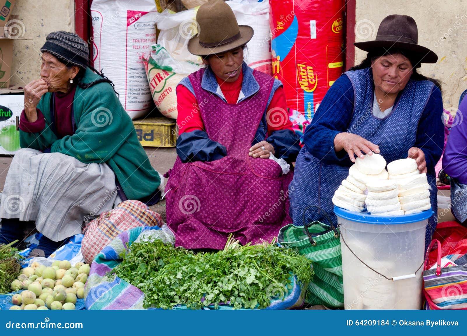 Mercado en Cusco, Perú