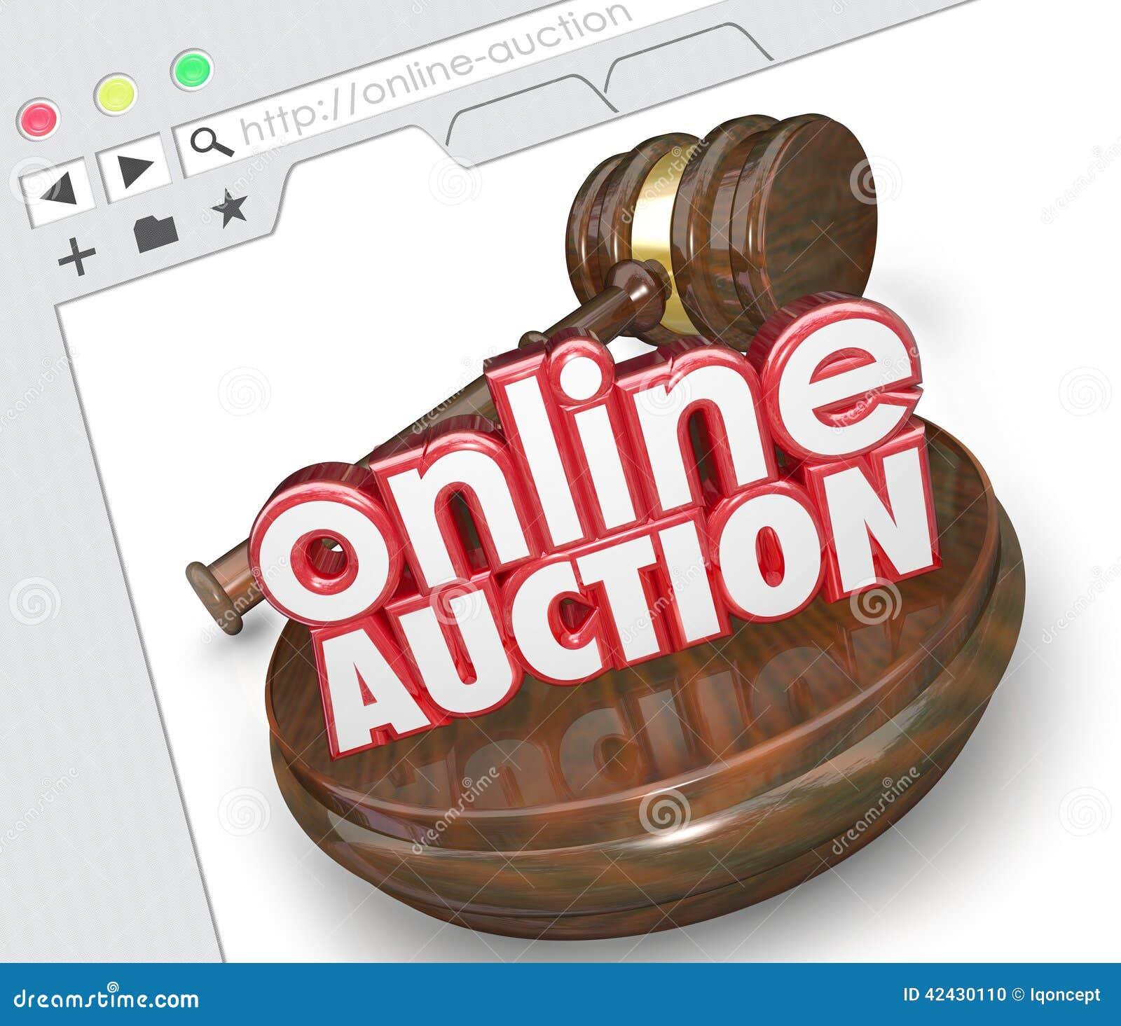 Download Mercado En Línea De La Subasta De Internet En Línea Del Sitio Web Que Hace Una Oferta Selli Stock de ilustración - Ilustración de comercio, licitador: 42430110