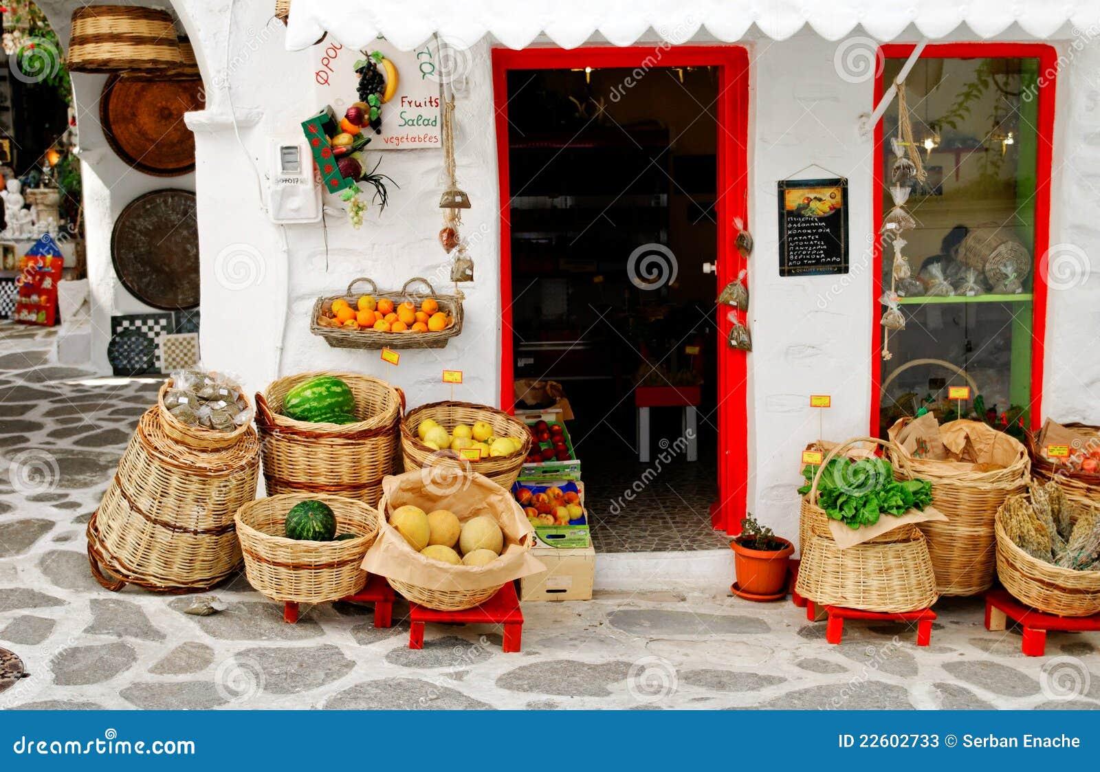 Mercado grego ao ar livre