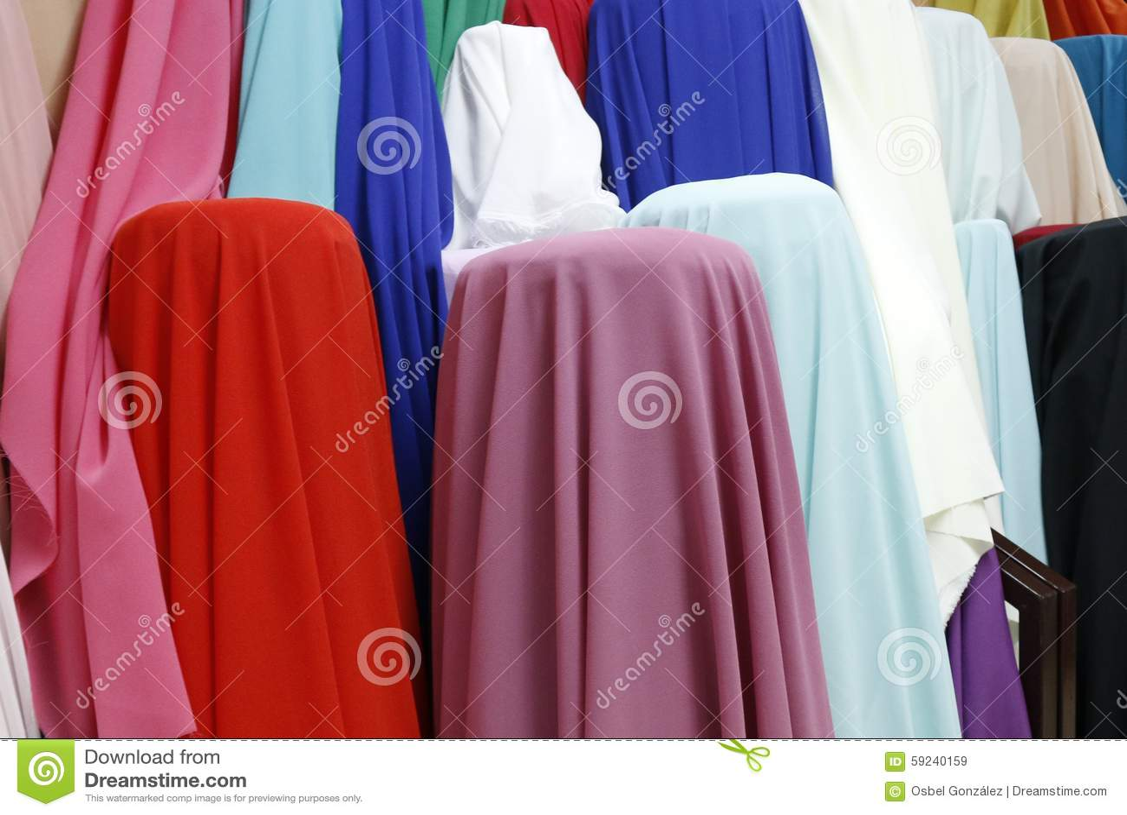 Mercado indio de la ropa