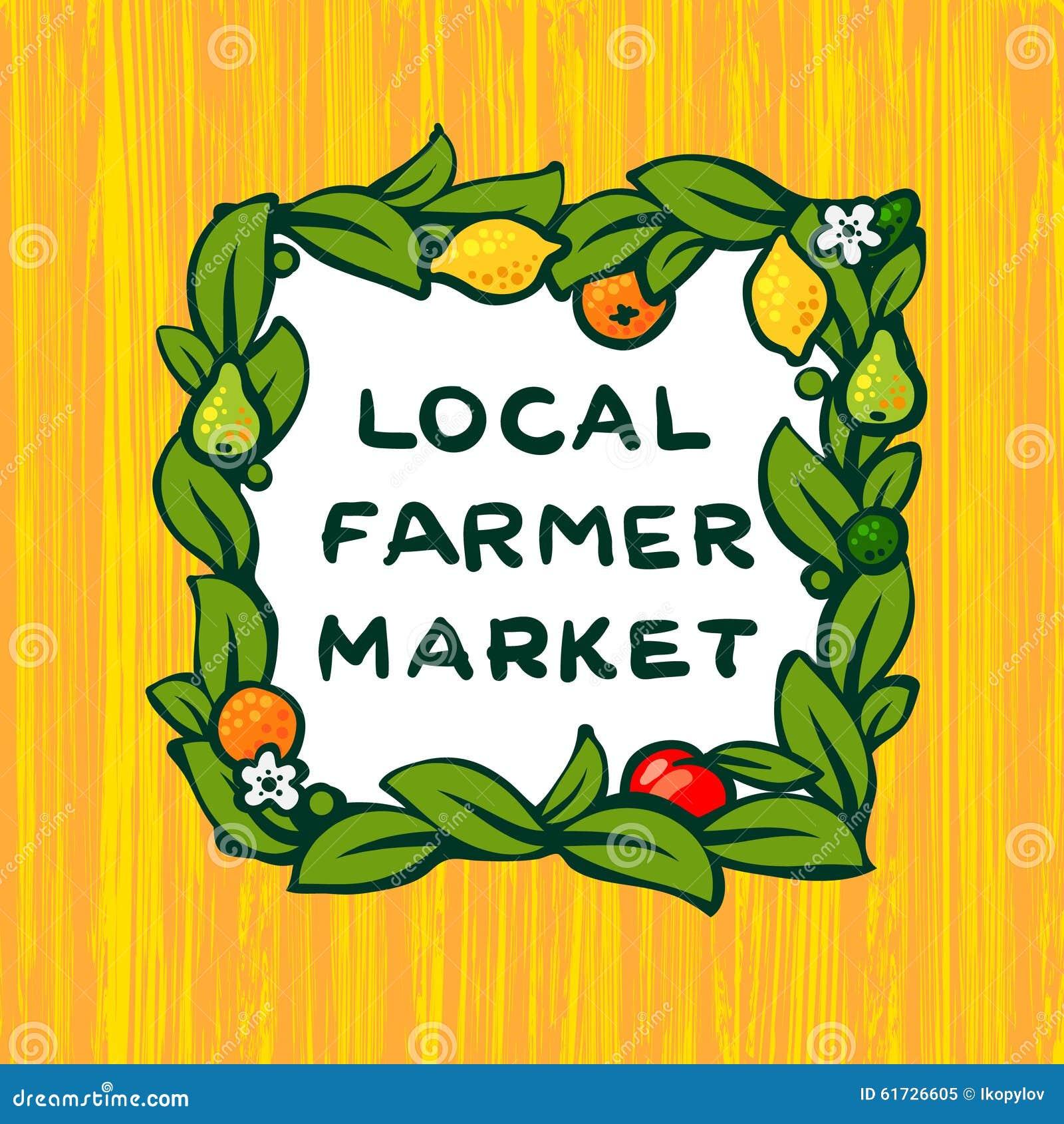 Mercado local do fazendeiro, projeto do logotipo da exploração agrícola