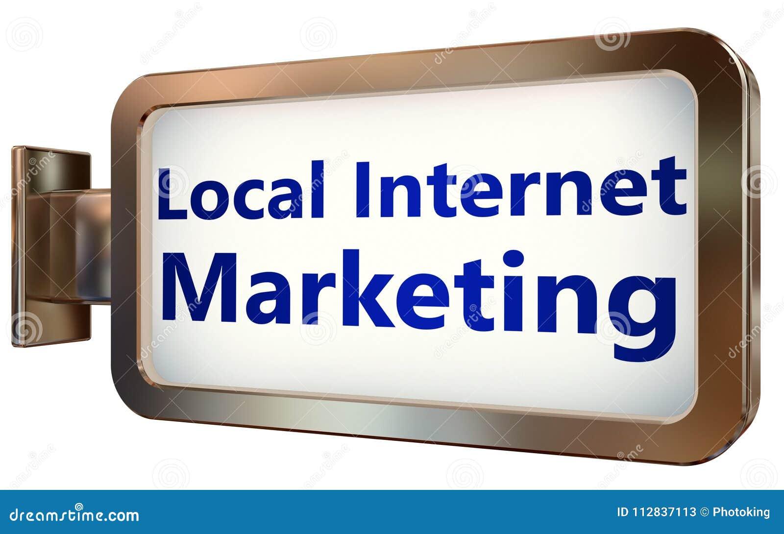 Mercado local do Internet no fundo do quadro de avisos