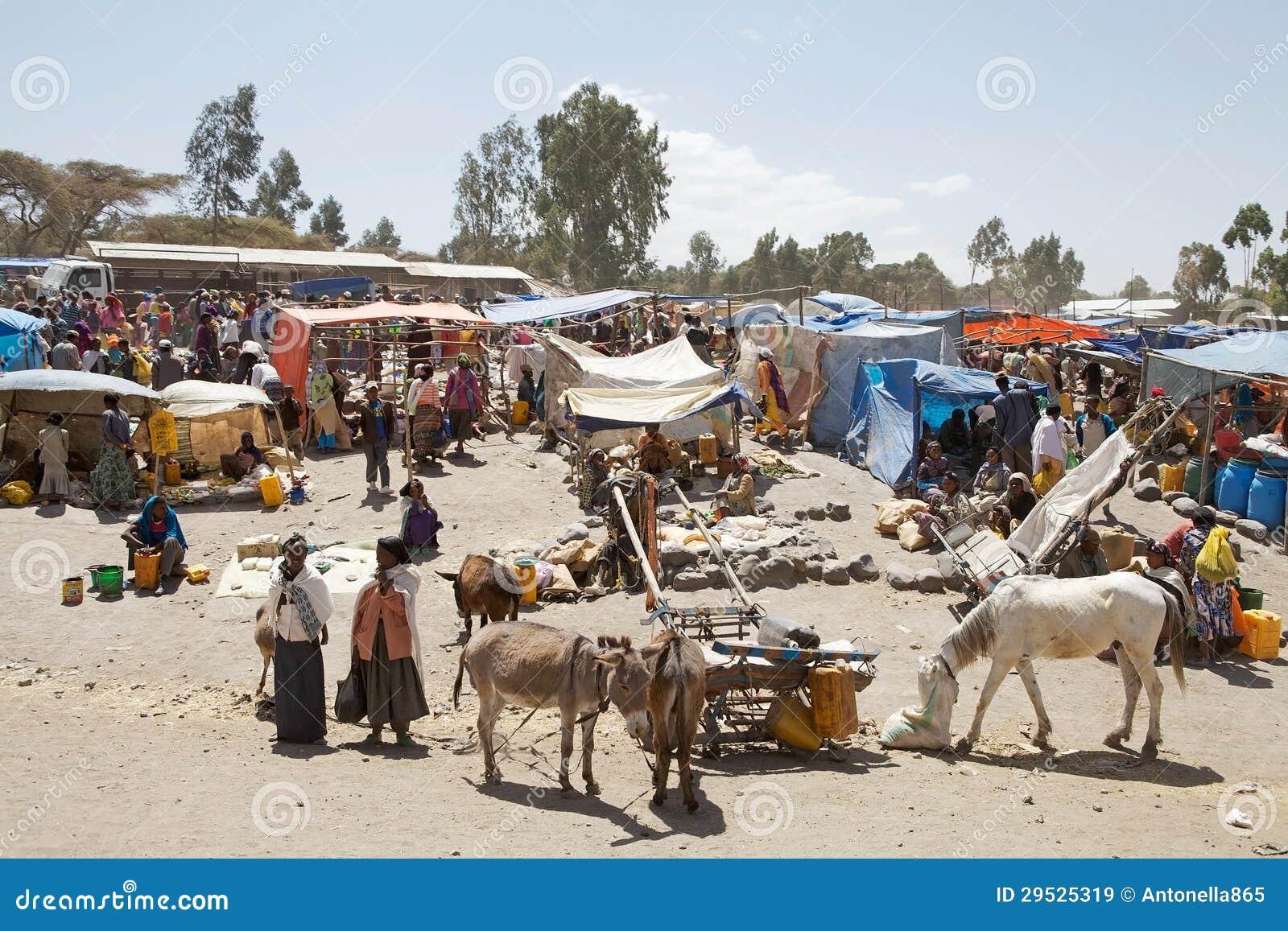 Mercado rural de África