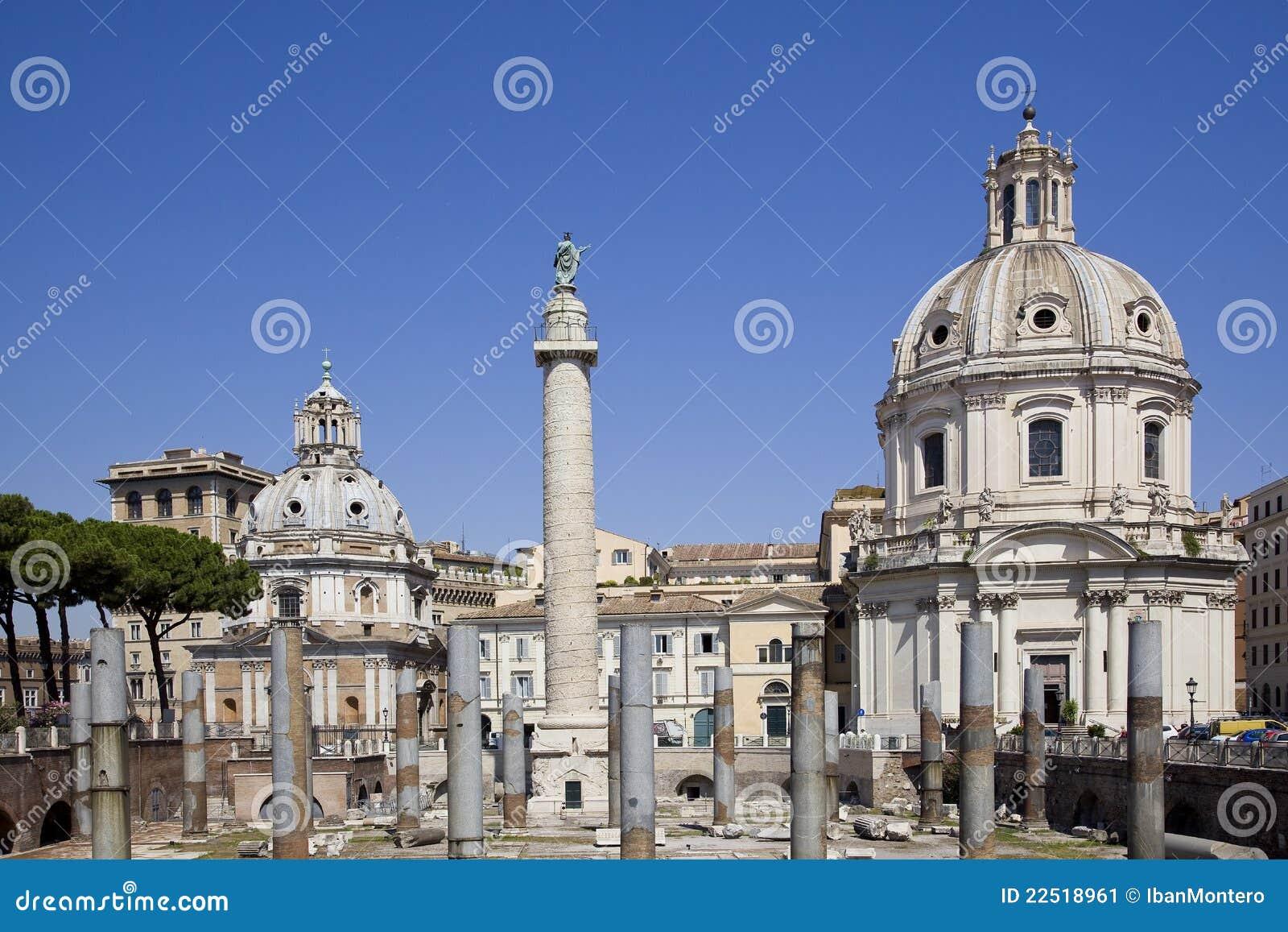 Mercado trajan antiguo en Roma