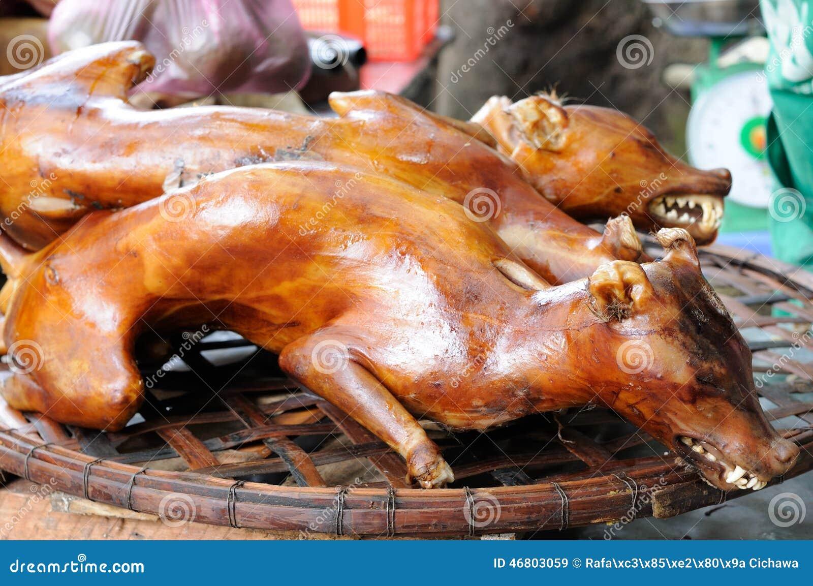 Mercati Di Colore Nel Vietnam Cane Cucinato Immagine Stock