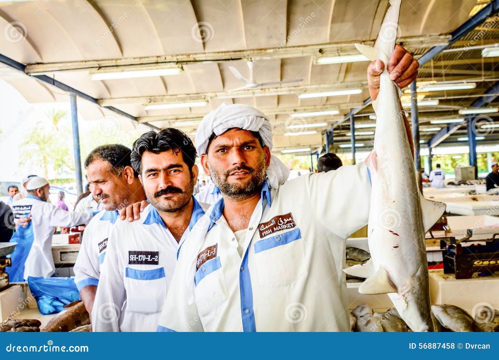 Mercato ittico del Dubai in Deira, emirati uniti