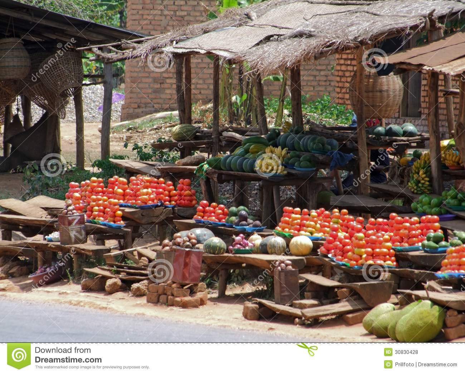 Mercato nell Uganda