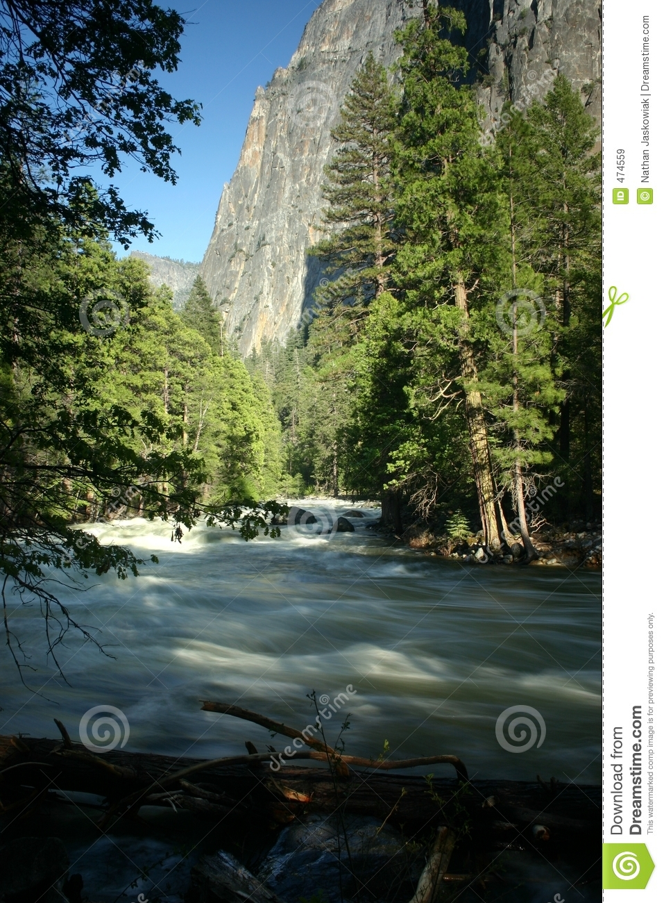 Merced River and Cliff