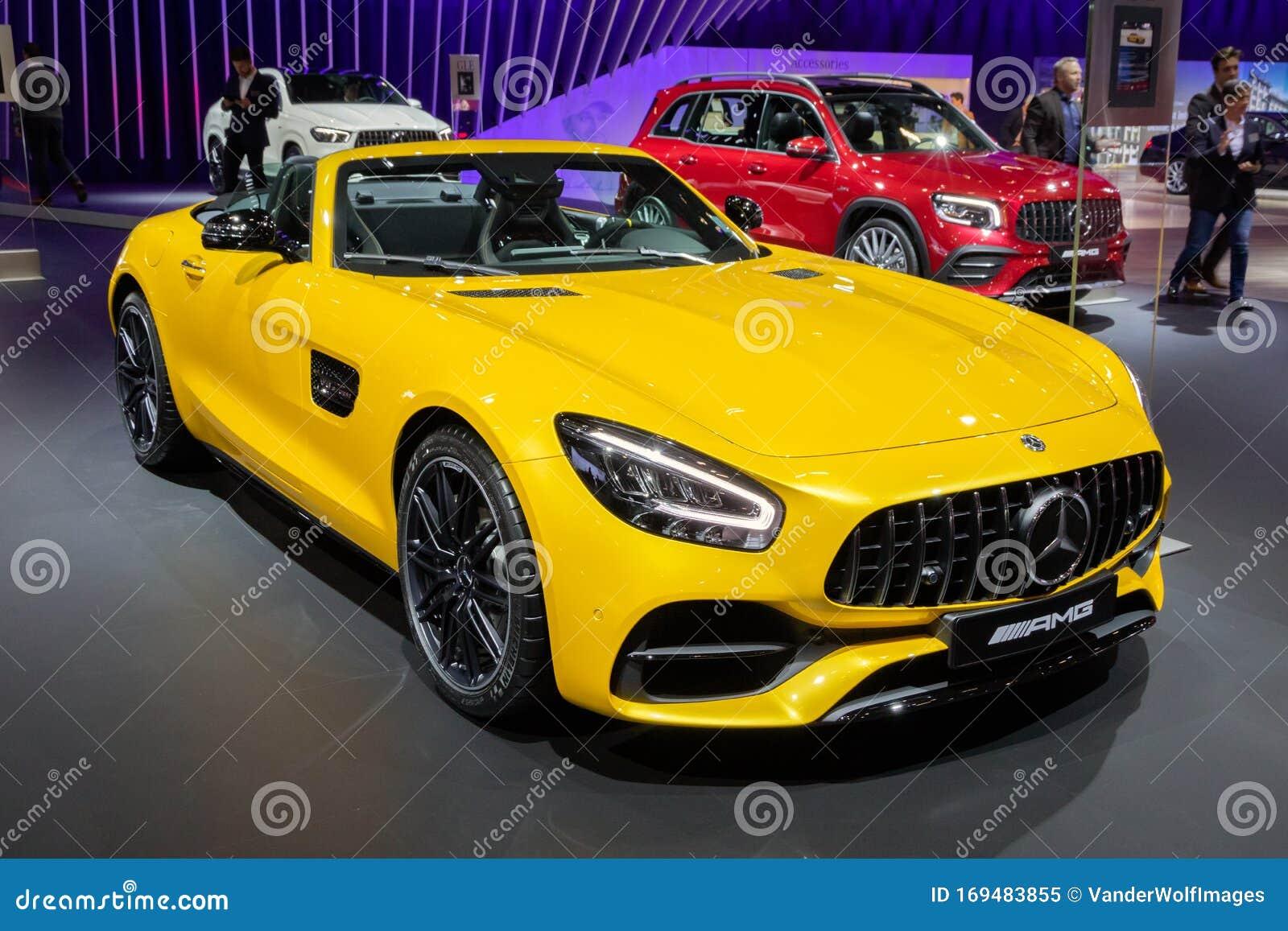 Mercedes Amg Gt Roadster Sports Car Editorial Image Image Of Model Motorshow 169483855