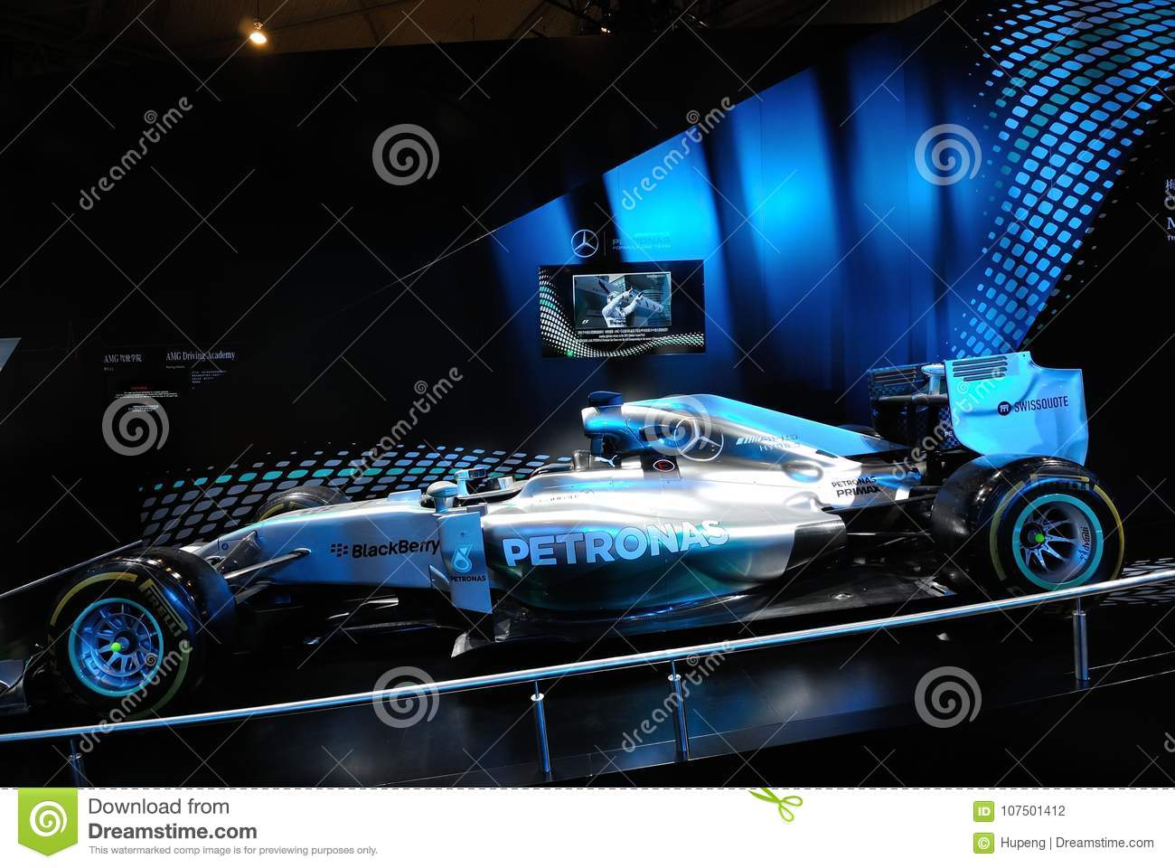 Mercedes Amg Petronas F1 W05 Hybrid Editorial Photography Image Of