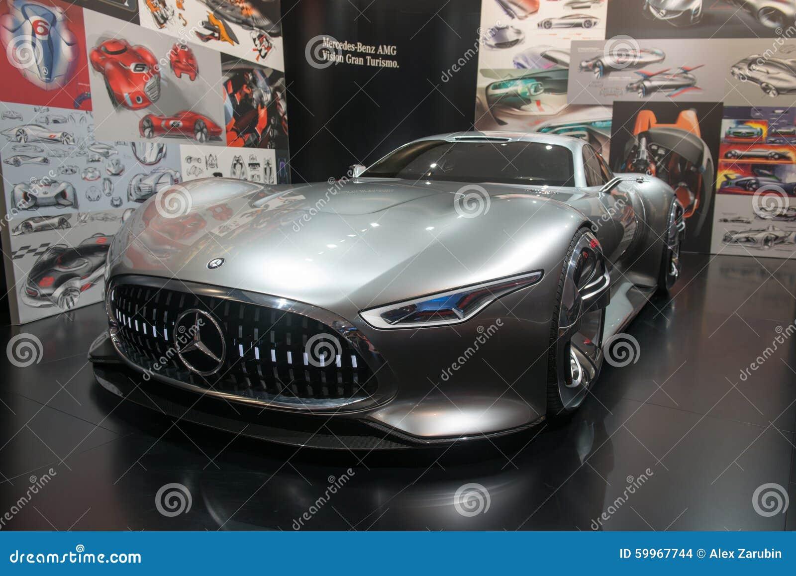 Mercedes-AMG Vision Gran Turismo Concept Car Editorial ...