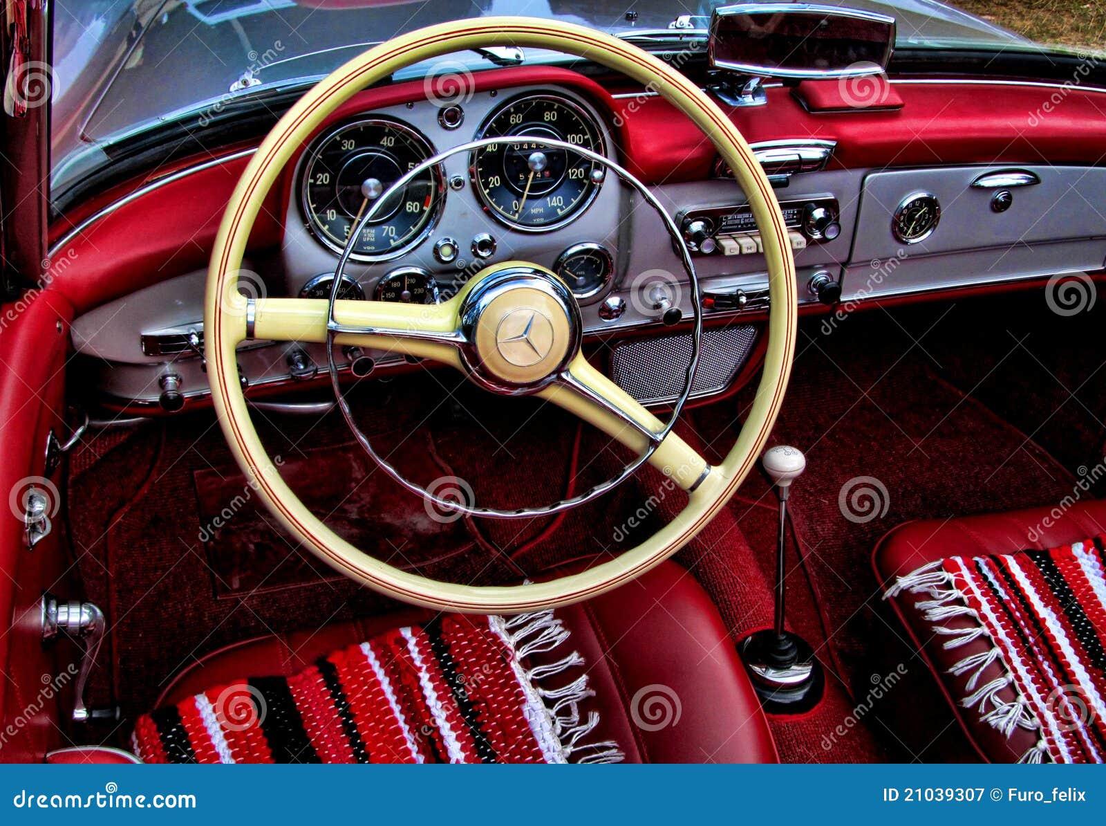 MercedesBenz 190SL Interior Editorial Photography Image