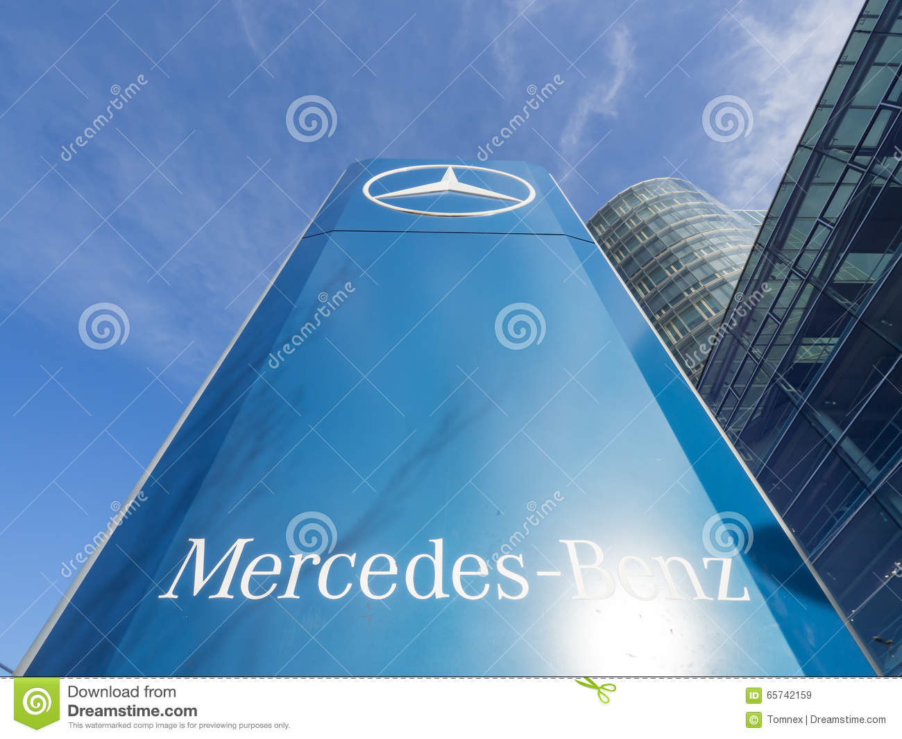 Mercedes benz editorial stock image image 65742159 for Mercedes benz sign in