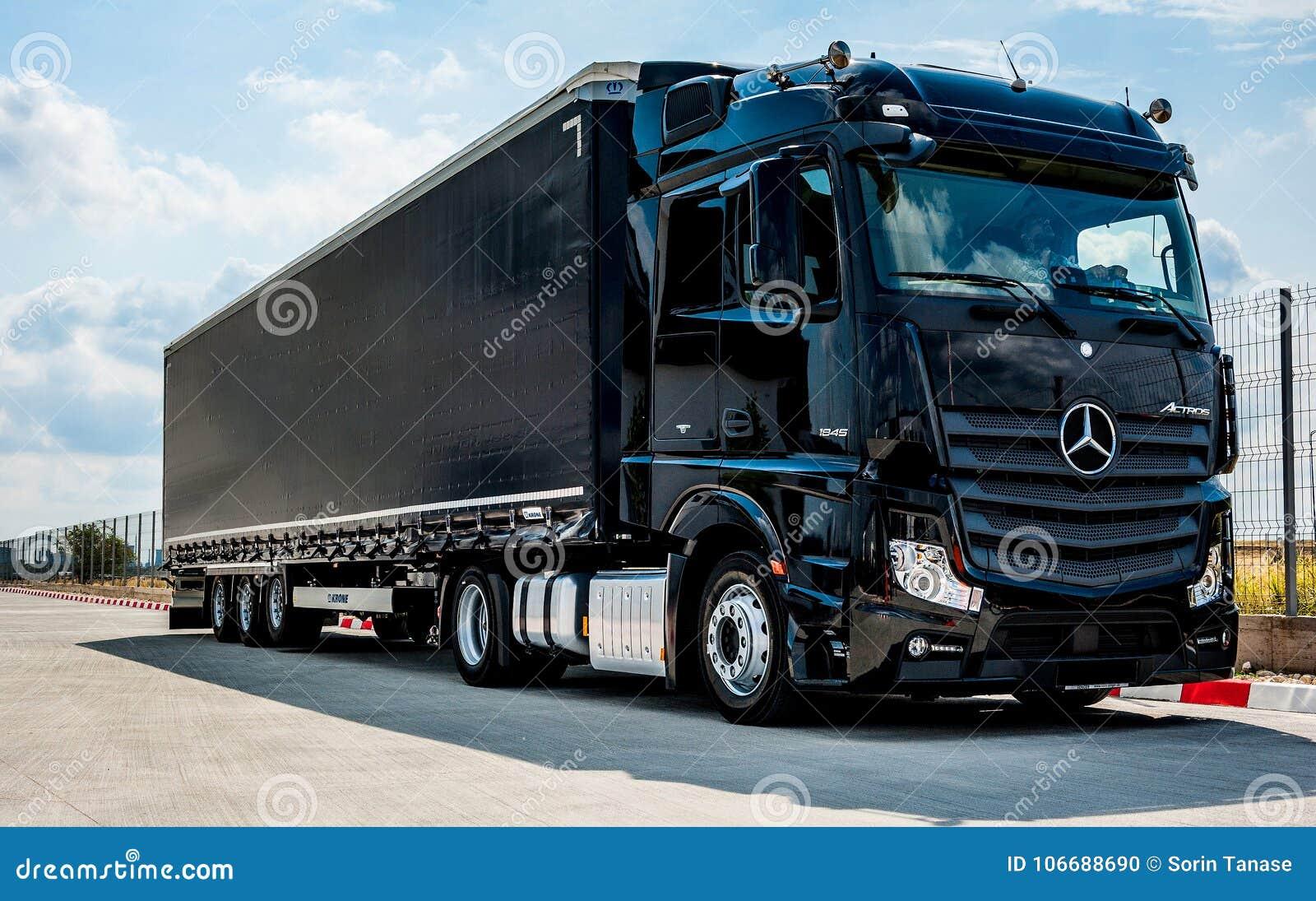 Mercedes-Benz Actros 1845 Euro 6 Truck Trailer Editorial