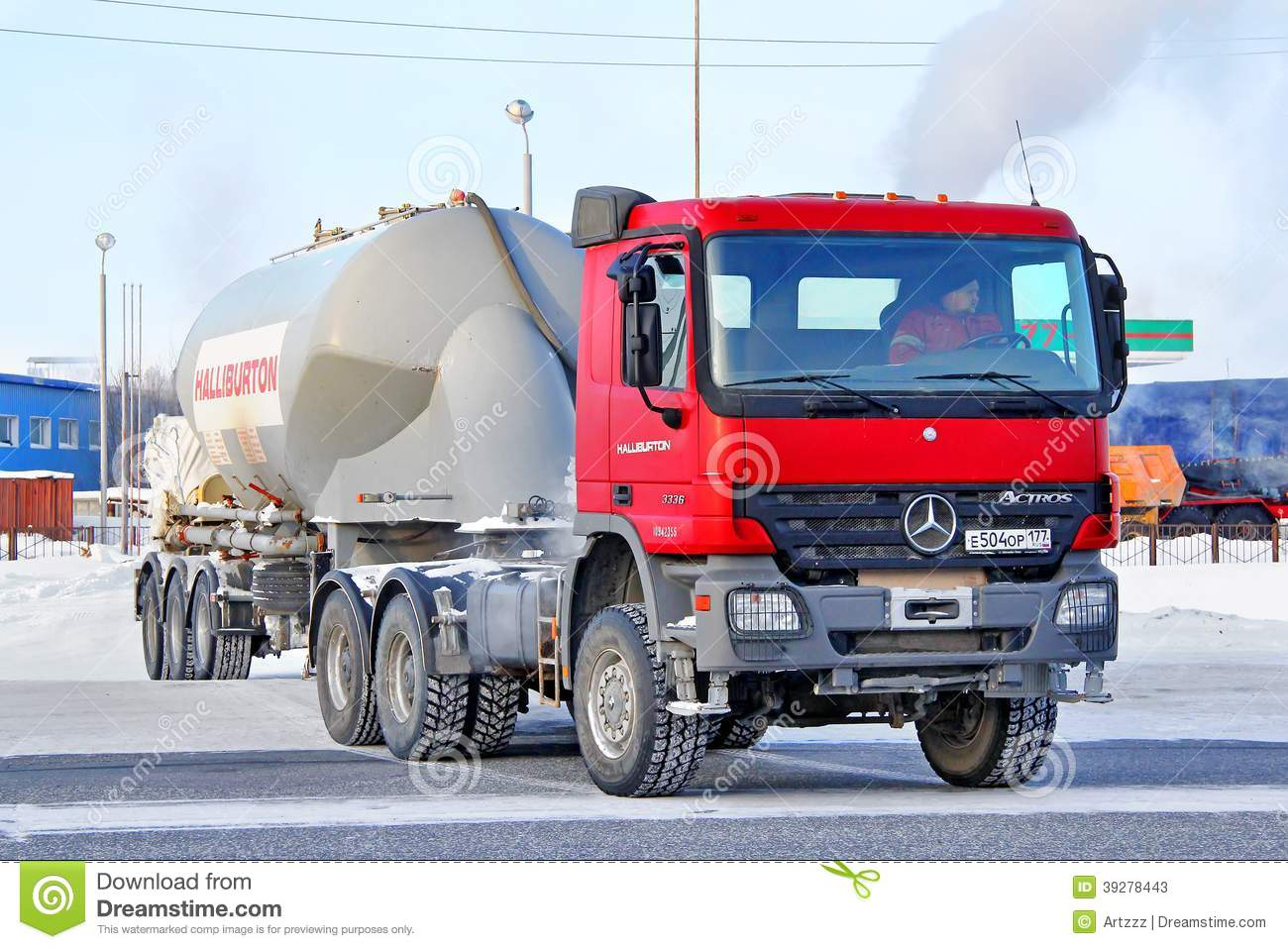 Semi Truck Oil : Mercedes benz actros editorial stock photo image of