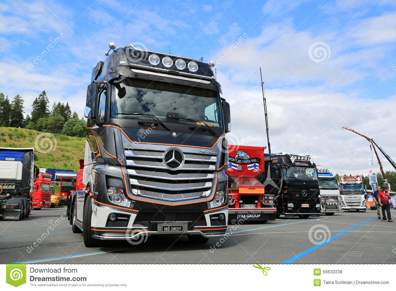 ... 2651 Uniq Concept truck on display at Tawastia Truck Weekend 2015