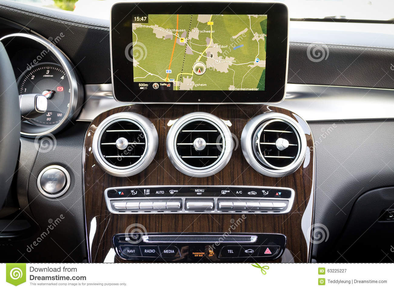 mercedes benz all new glc suv 2015 gps system editorial