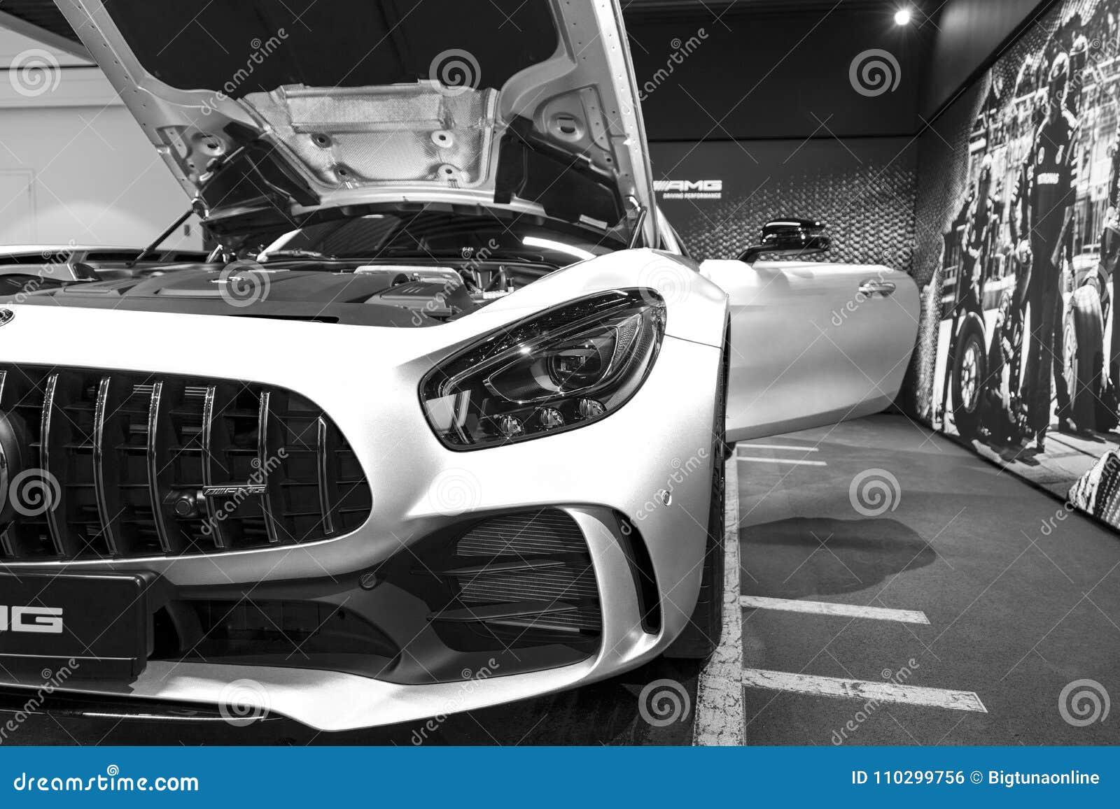 Mercedes-Benz AMG GTR 2018 V8 bi-Turbo buitendetails, Koplamp Front View Auto buitendetails Rebecca 36