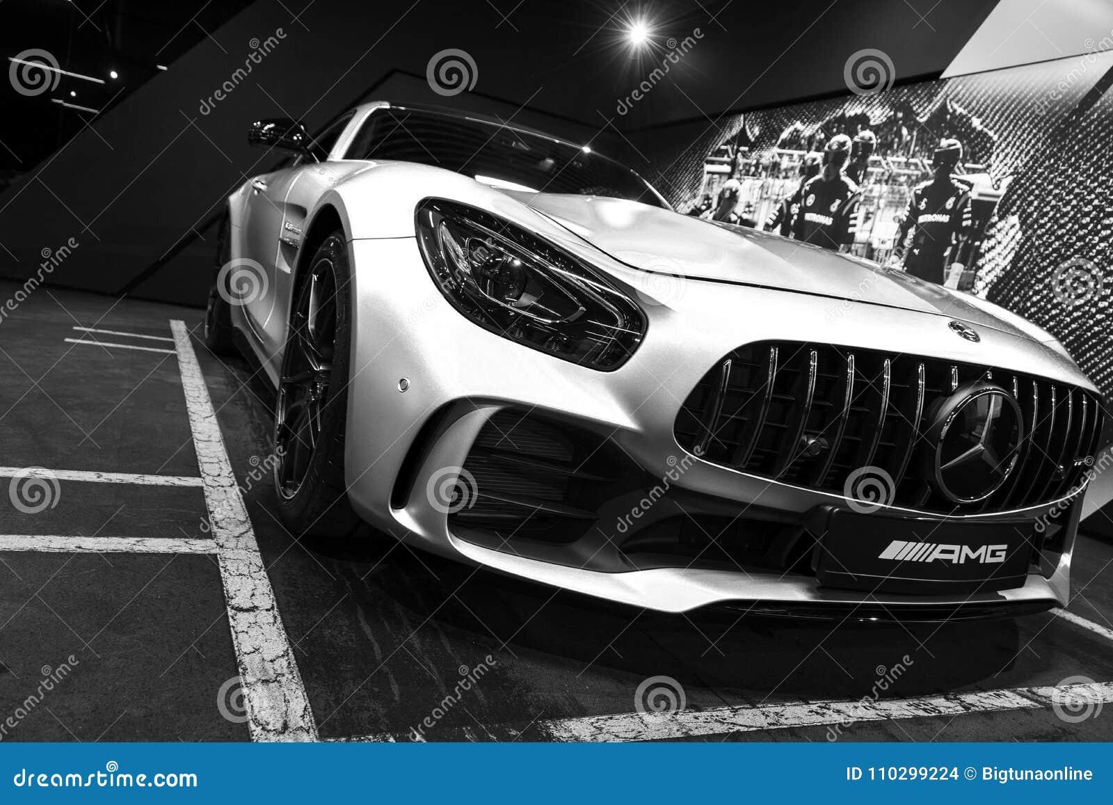 Mercedes-Benz AMG GTR 2018 V8 de buitendetails van Biturbo, Koplamp Front View Auto buitendetails Rebecca 36