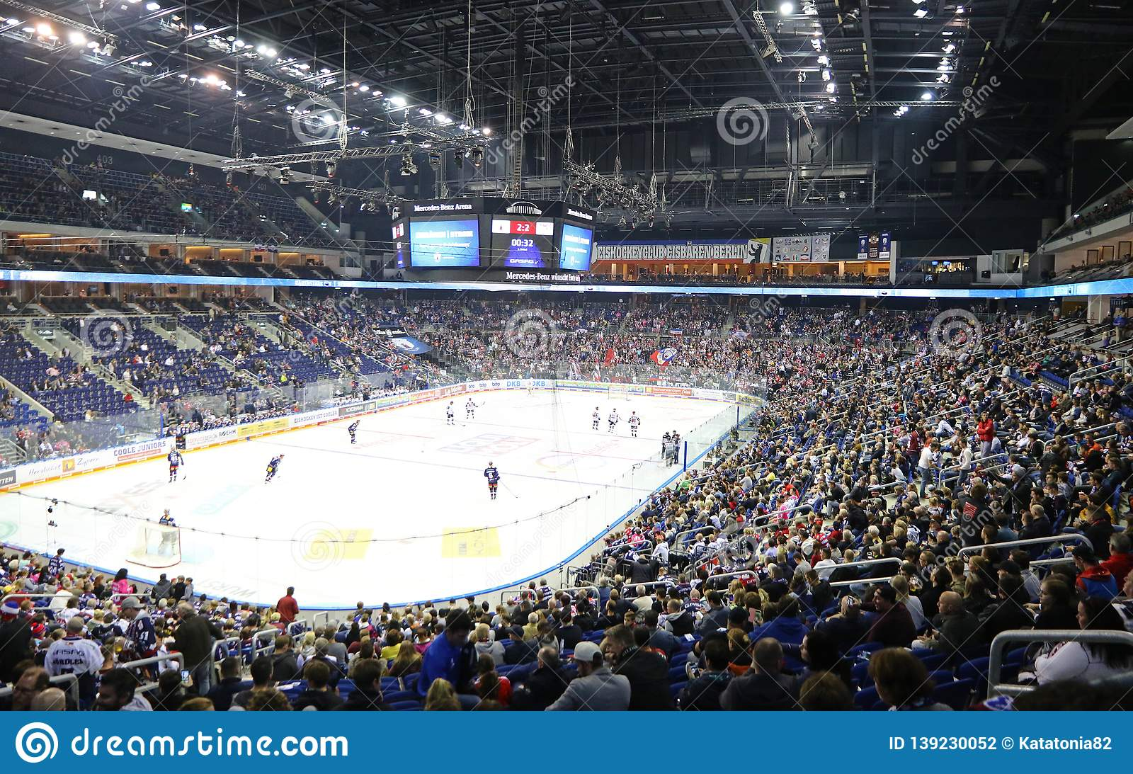 Mercedes Benz Arena In Berlin During The Ice Hockey Game Editorial