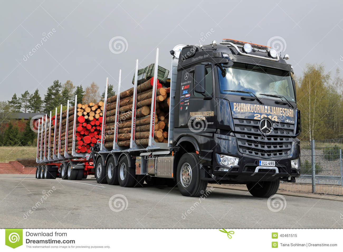 Mercedes Benz Arocs 3263 Lk 8x4 Timber Truck Editorial Image
