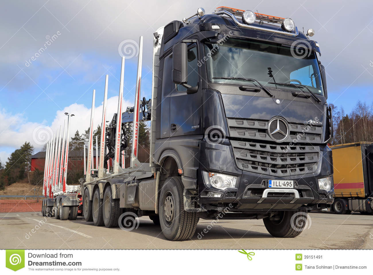 Mercedes benz arocs 3263 timber truck editorial photo for The new mercedes benz truck