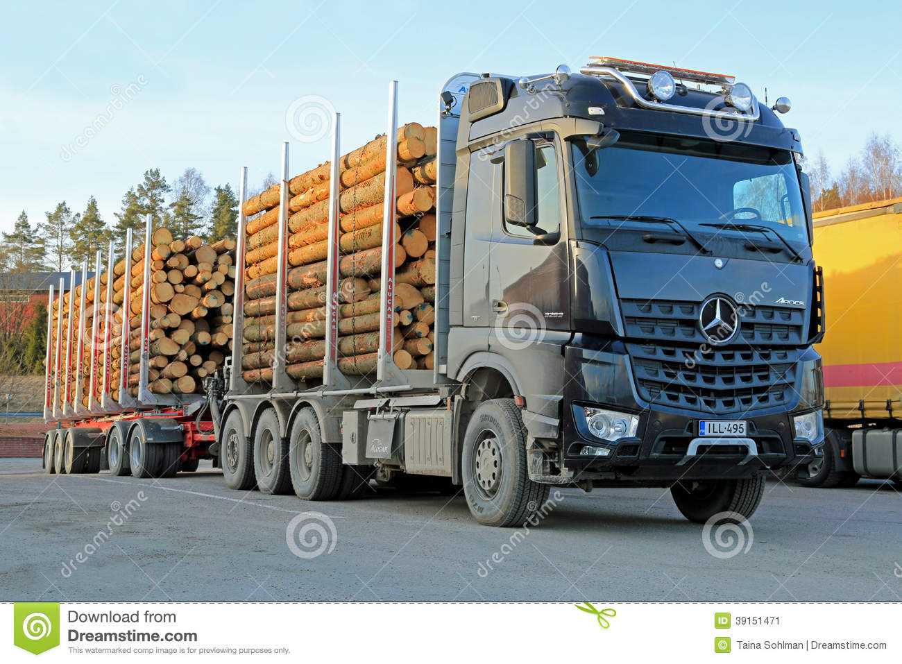 - MARCH 22, 2014: Mercedes-Benz Arocs 3263 timber truck. The New ...
