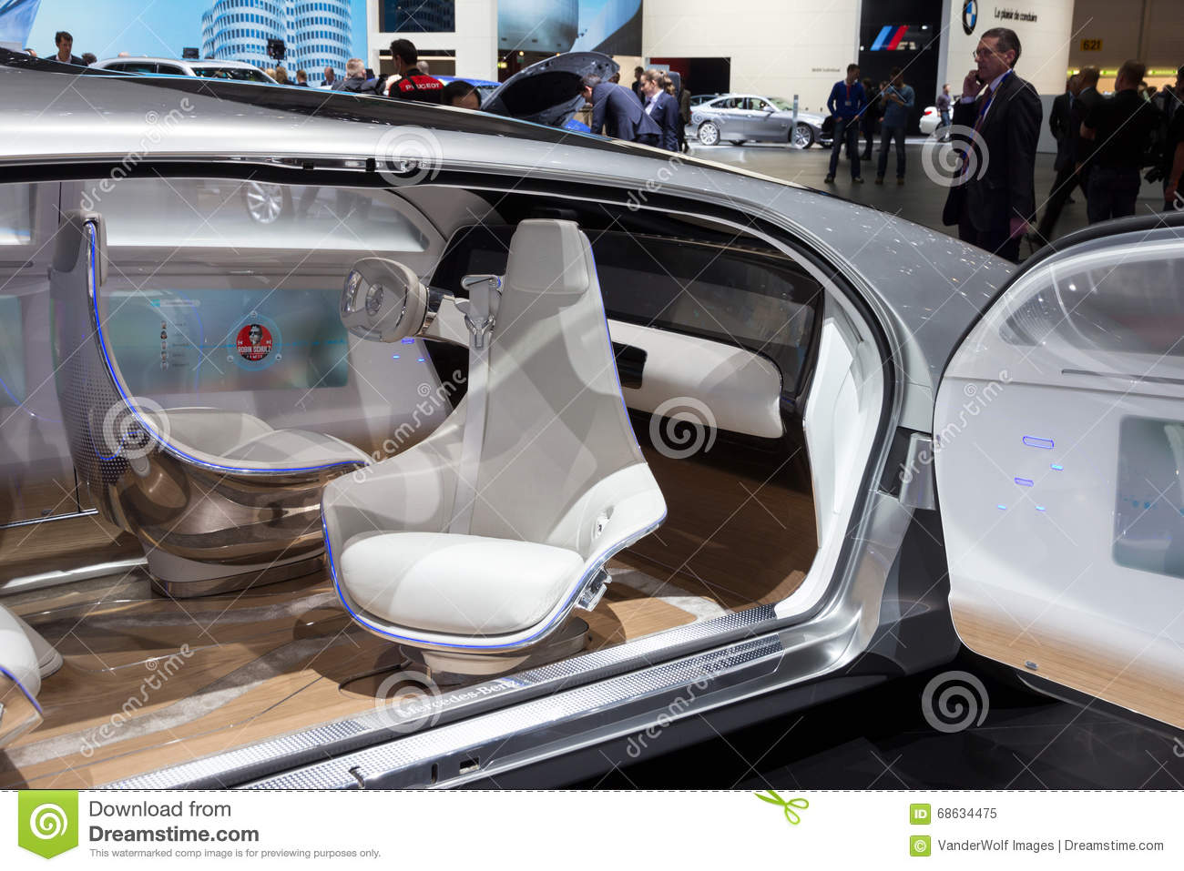 mercedes benz autonomous concept car interior editorial image image of inside future 68634475. Black Bedroom Furniture Sets. Home Design Ideas