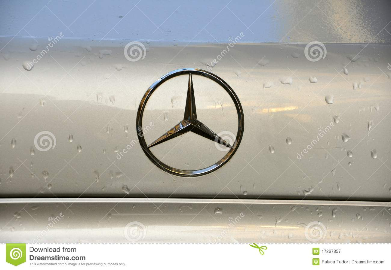 Mercedes benz brand logo editorial photography image of for Mercedes benz brand
