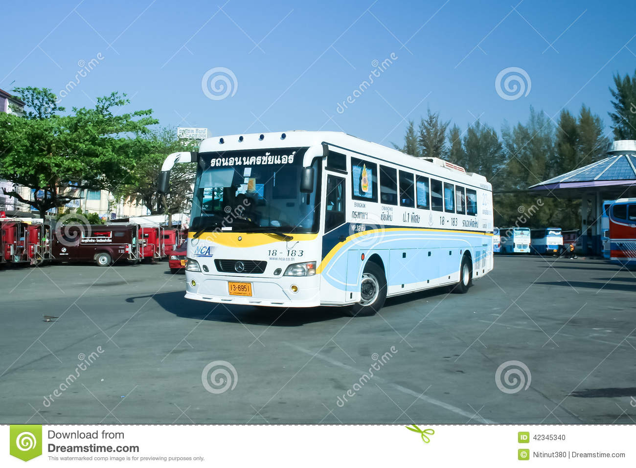 Mercedes Benz Bus Of Nakhonchai Air Company Editorial Image