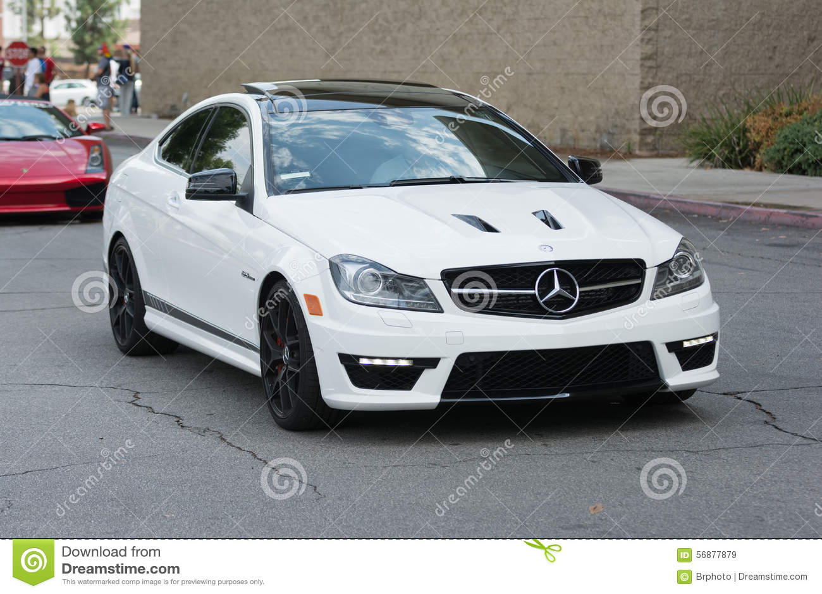 Mercedes Benz c63 AMG car on display