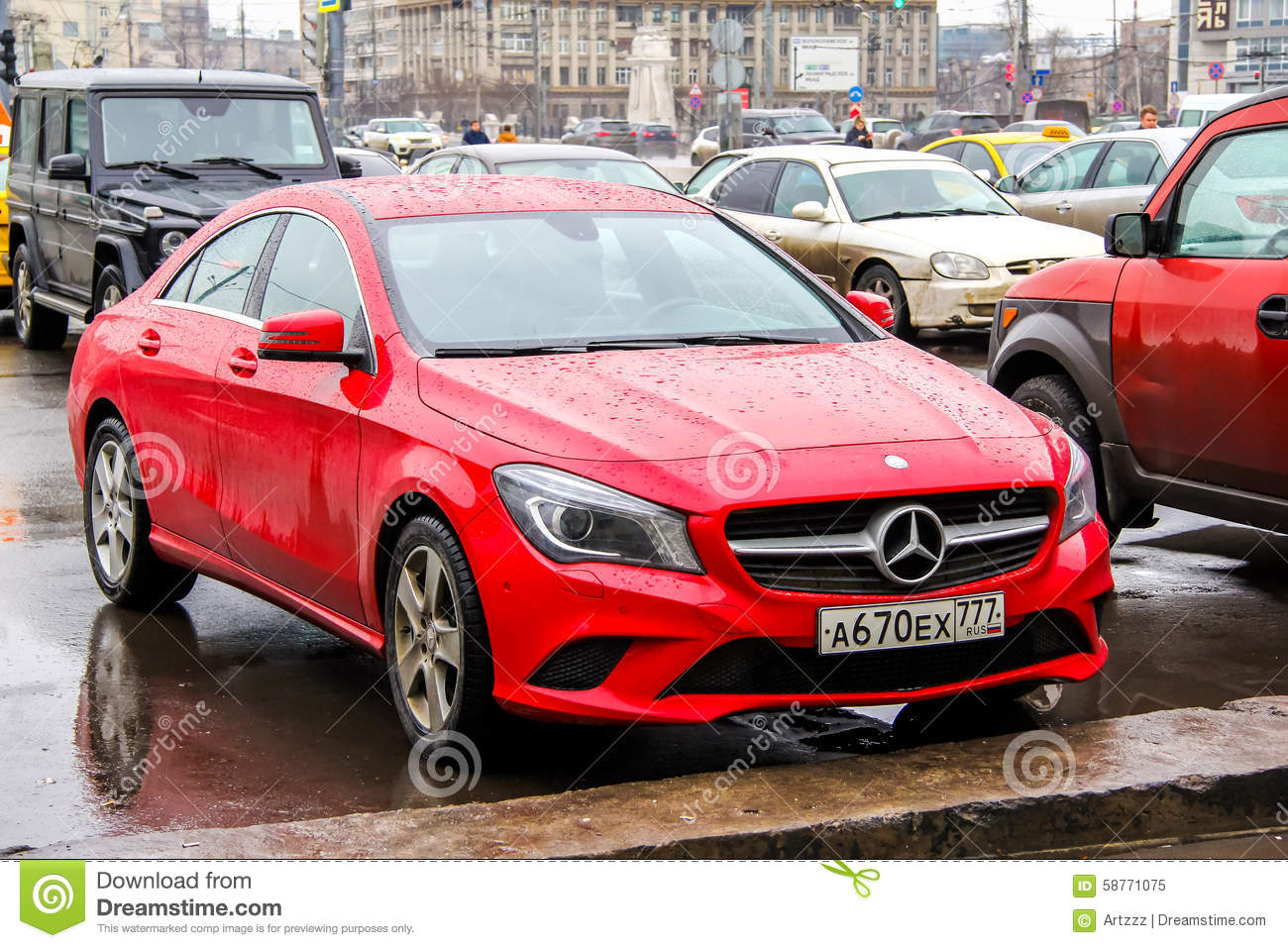 Mercedes Benz C117 Cla Class Editorial Image Image 58771075