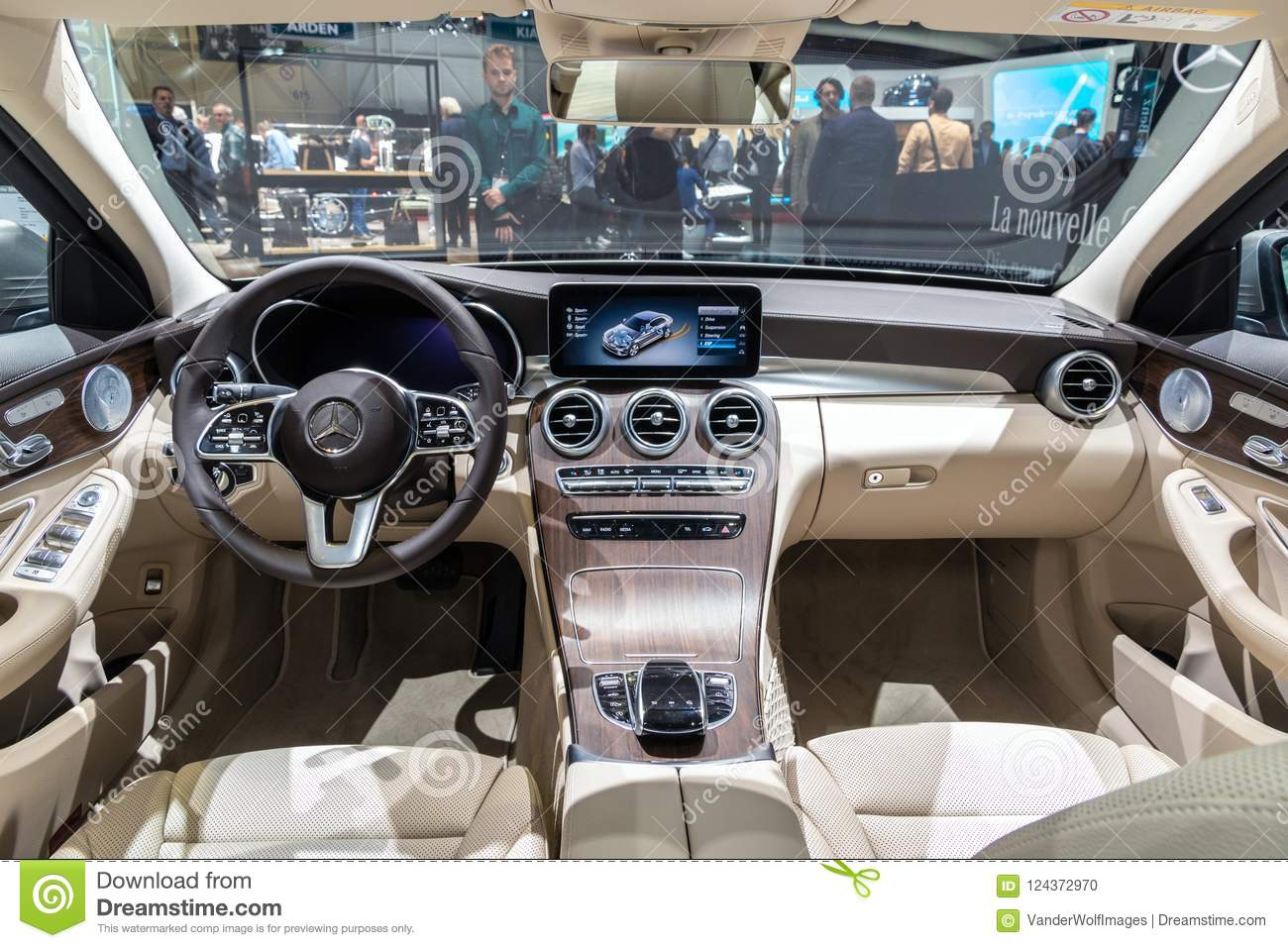 Mercedes Benz Interior >> Mercedes Benz C Class C200 Car Interior Editorial Image
