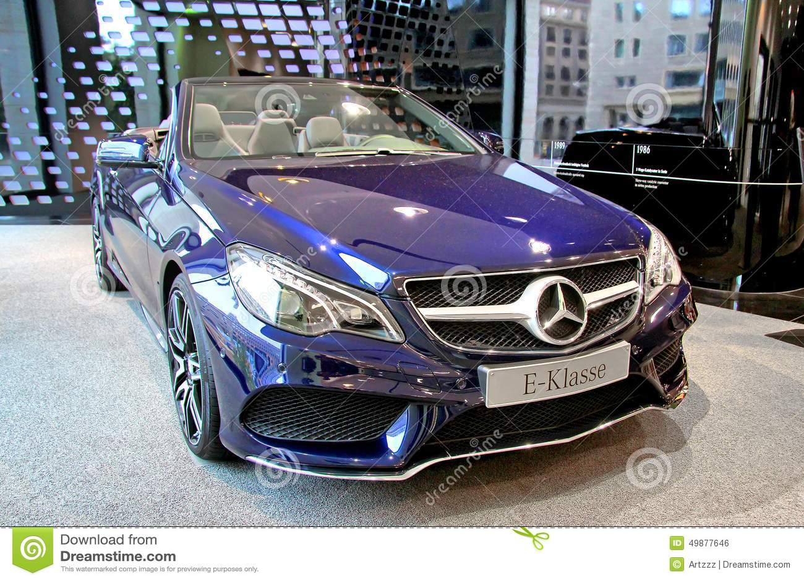 Blue mercedes benz a class car editorial photo for Mercedes benz new car