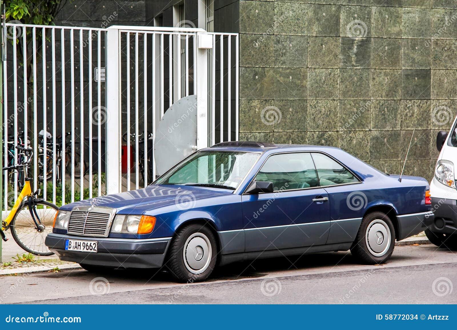 Blue mercedes benz a class car editorial photo for Mercedes benz e350 tire size