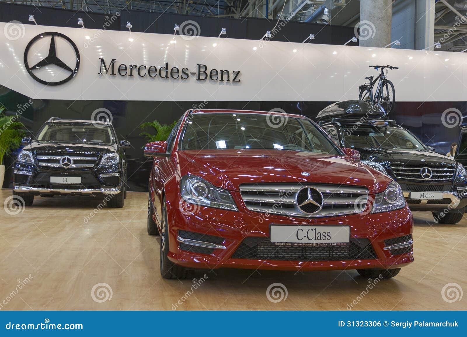 Mercedes benz car models on display editorial photo for Mercedes benz us international