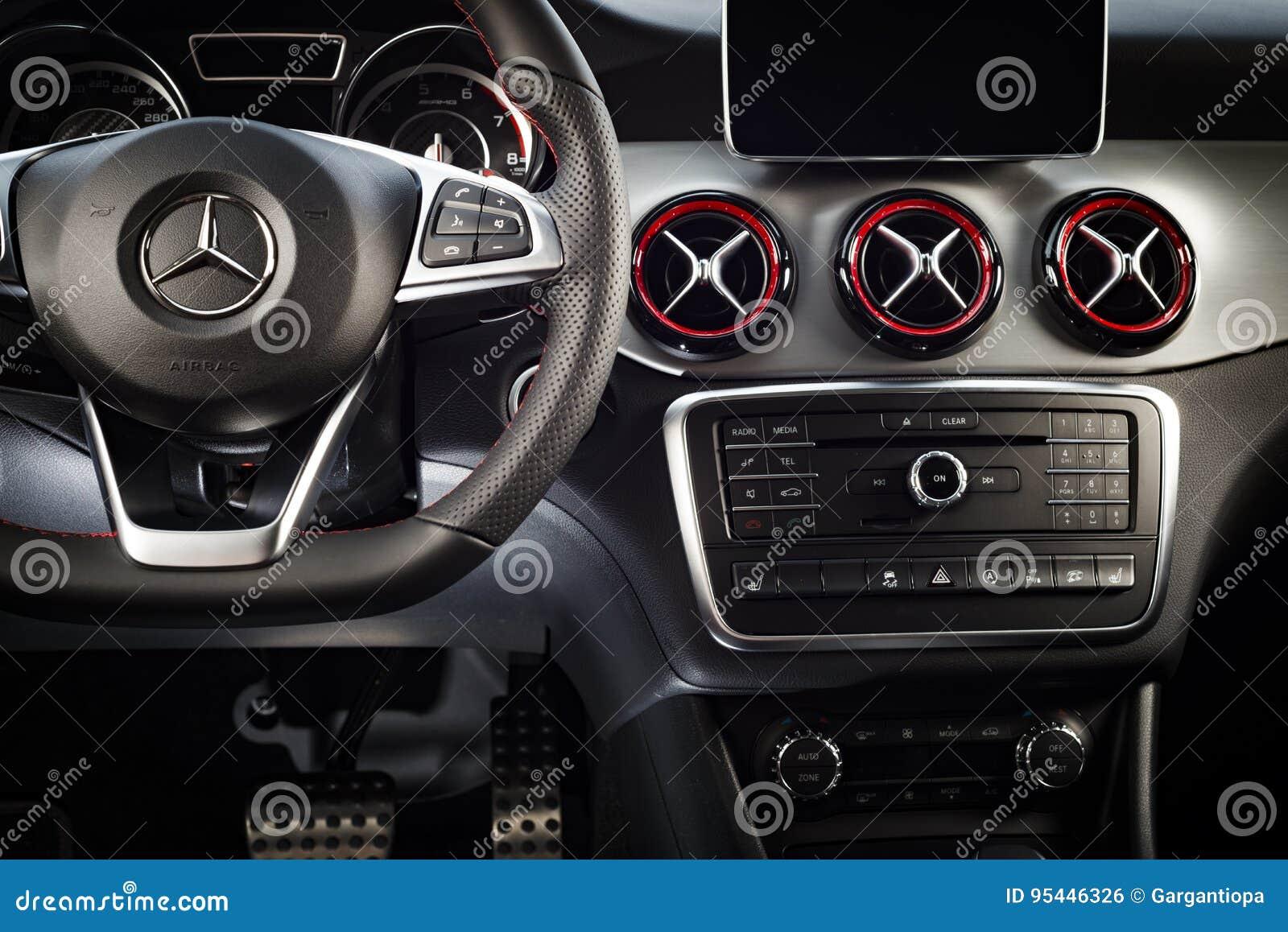 Mercedes Benz Cla 45 2016 Amg Interior Editorial Photo Image Of