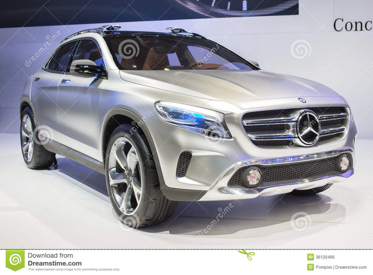 Mercedes benz concept gla car on display at the 30th for Mercedes benz thailand