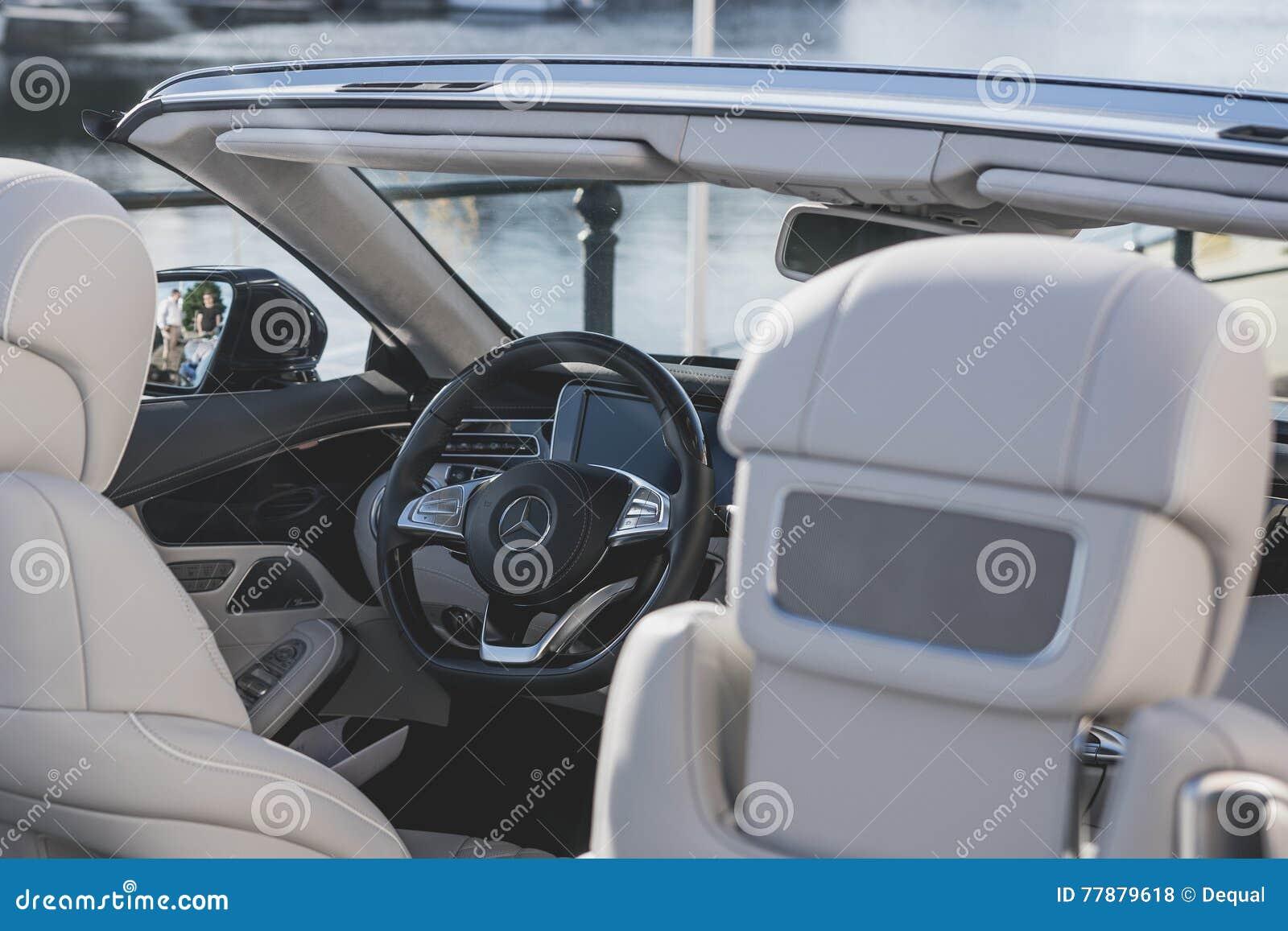 Mercedes benz convertible interior editorial stock photo for Mercedes benz interior parts online