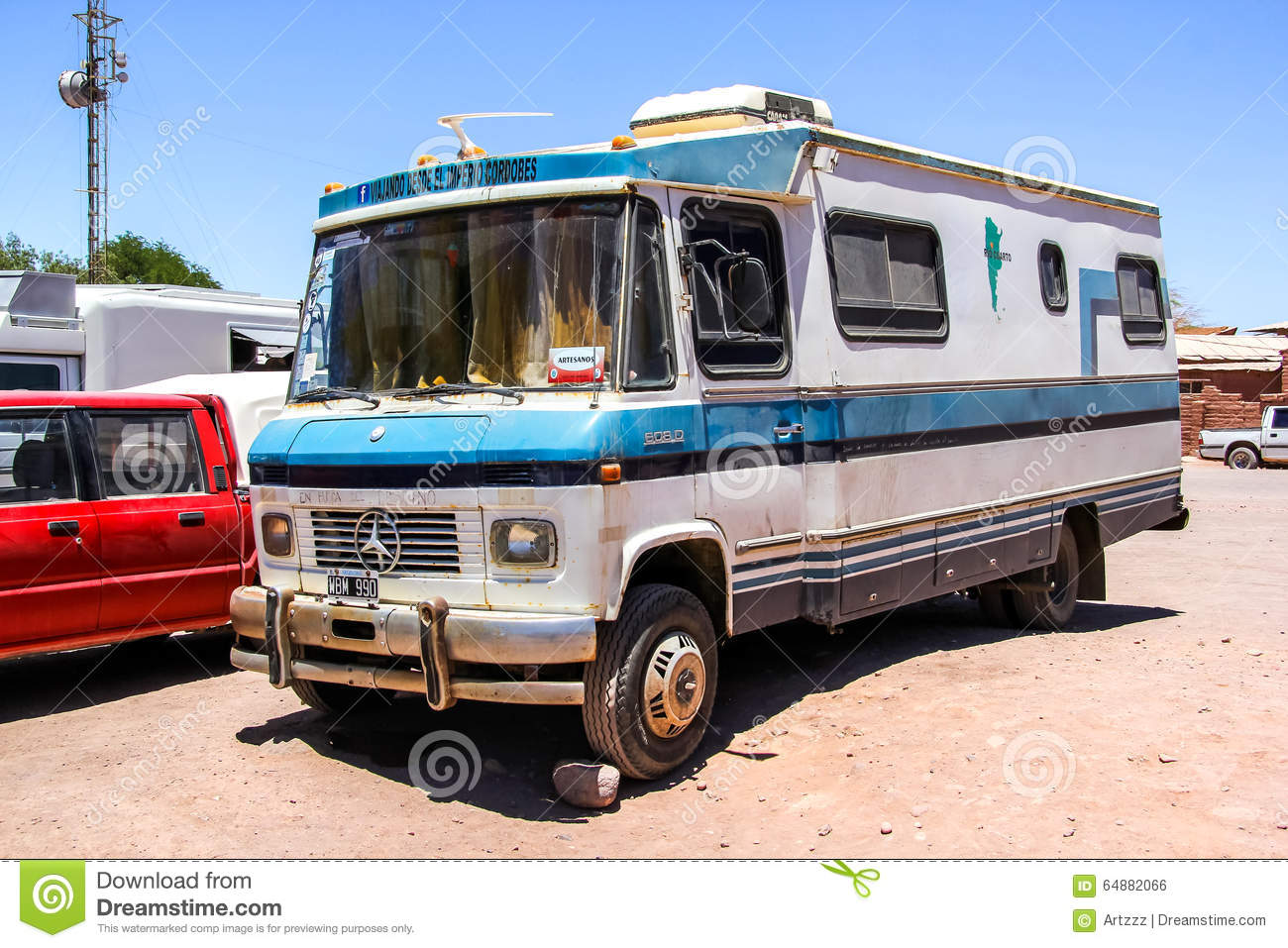 Mercedes Benz 608d Editorial Photo Image Of Countryside 64882066 Camper Download