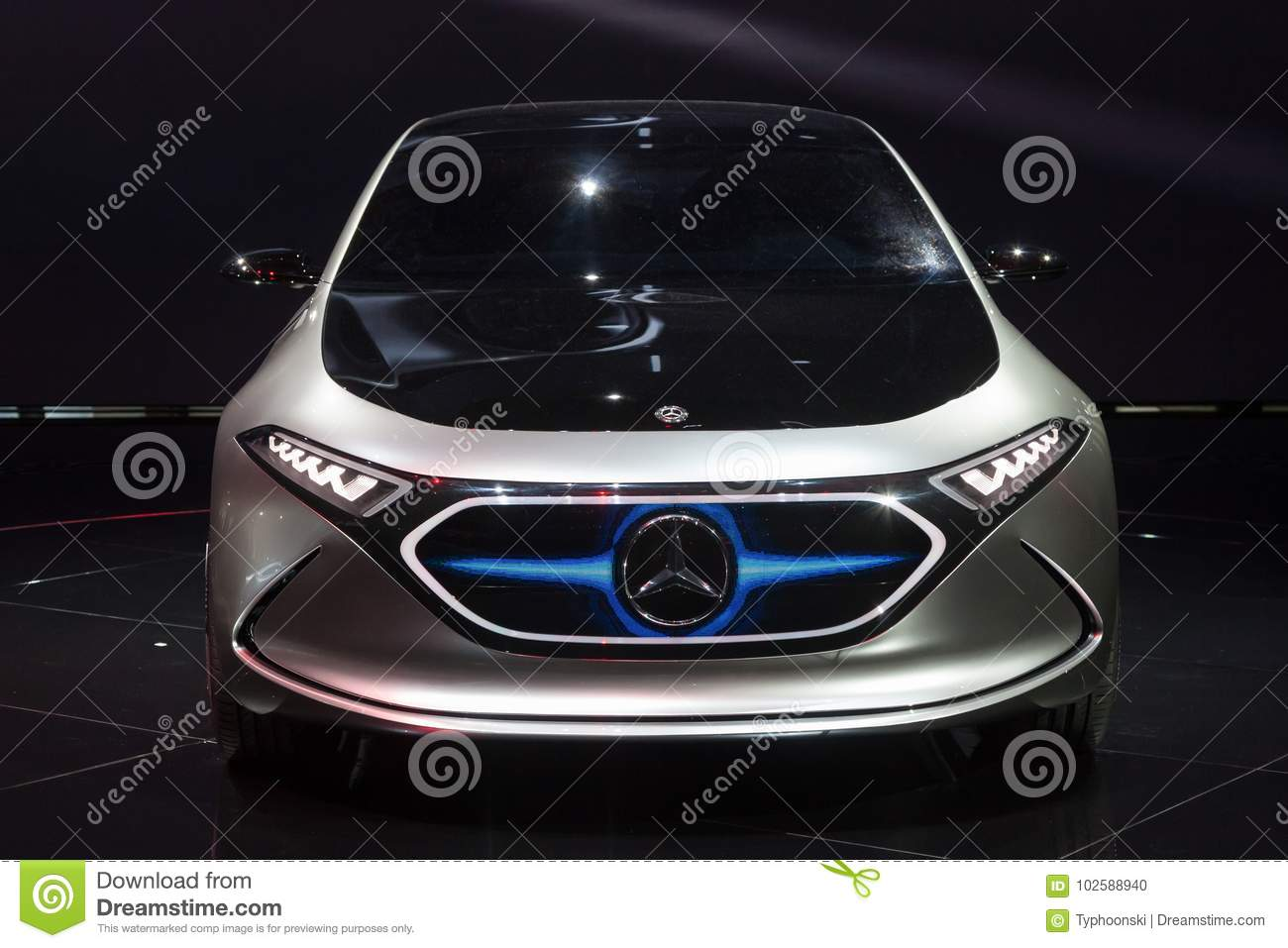 Mercedes Benz EQA Electric Car Concept Editorial Image - Image of ...