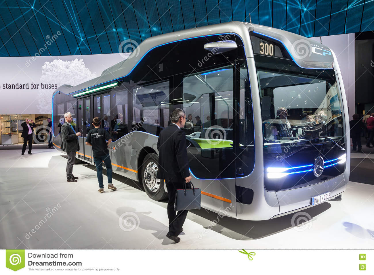 f48366bdc4 Mercedes Benz Future Bus editorial stock image. Image of public ...