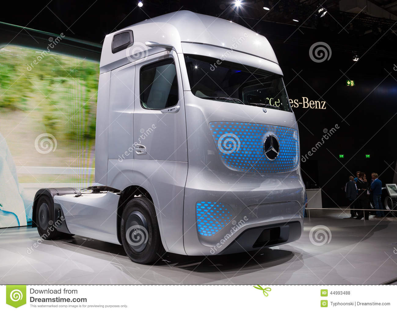 mercedes benz future truck ft 2025 editorial stock photo image 44993488. Black Bedroom Furniture Sets. Home Design Ideas