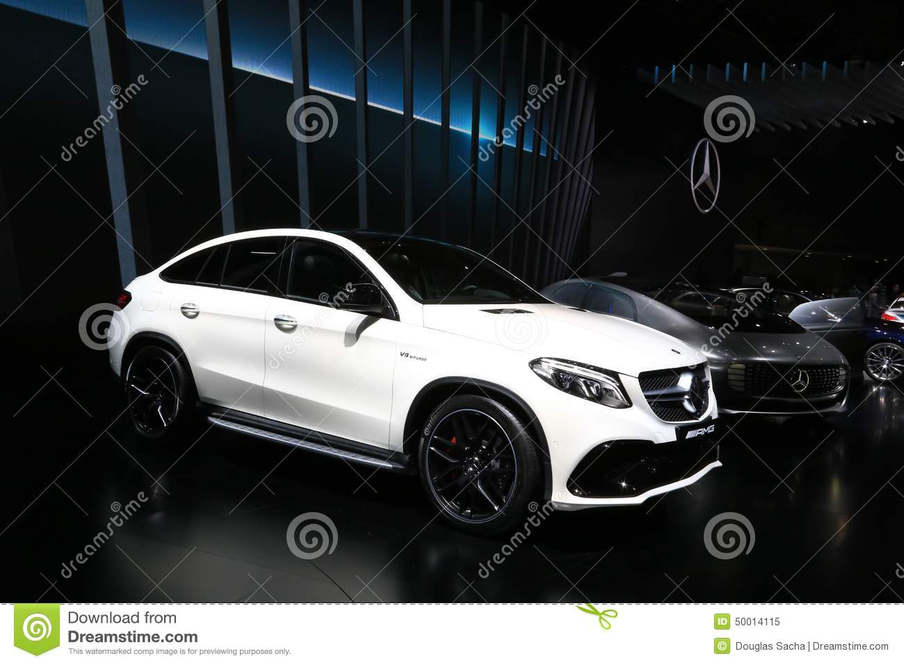 Mercedes benz gle 63 amg suv displayed at the auto show for Mercedes benz orlando north