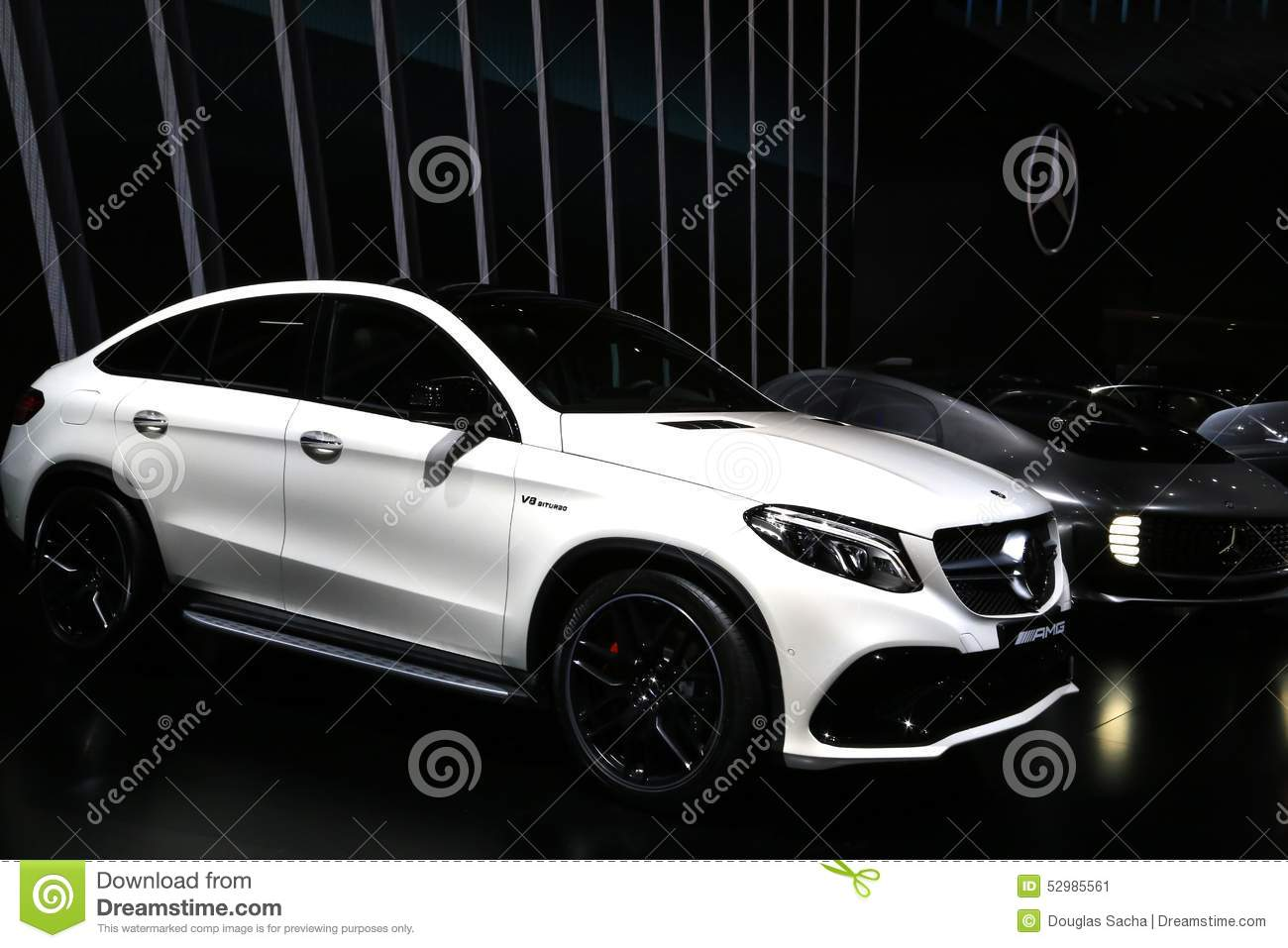 Mercedes-Benz GLE 63 AMG SUV Displayed At The Auto Show