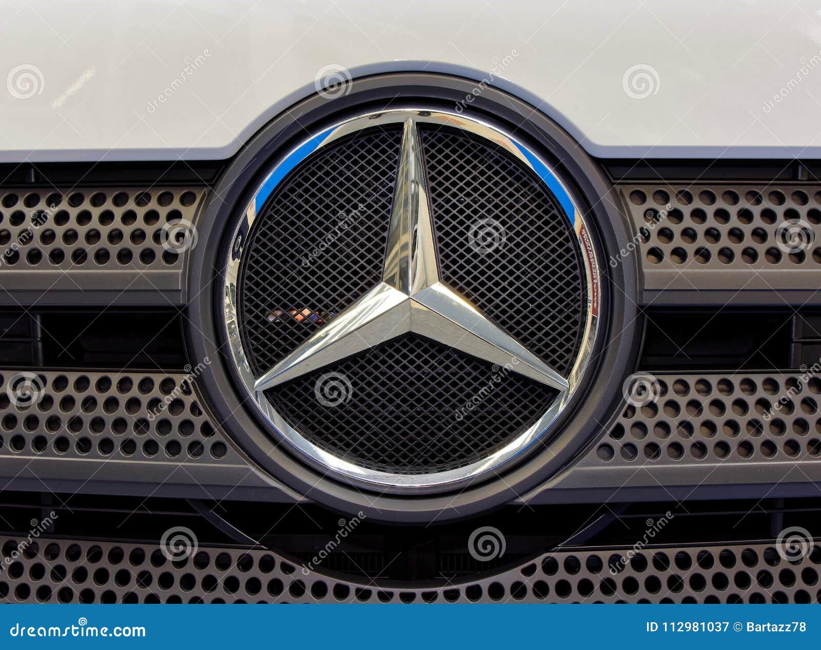 Mercedes Benz logo and modern badge
