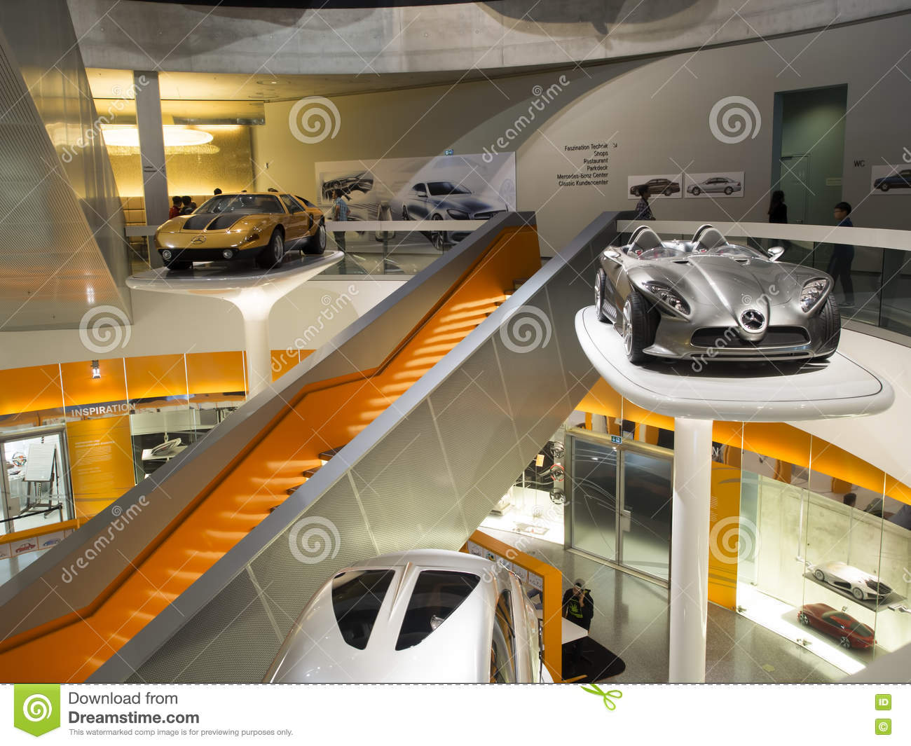 mercedes benz museum editorial photography image of. Black Bedroom Furniture Sets. Home Design Ideas