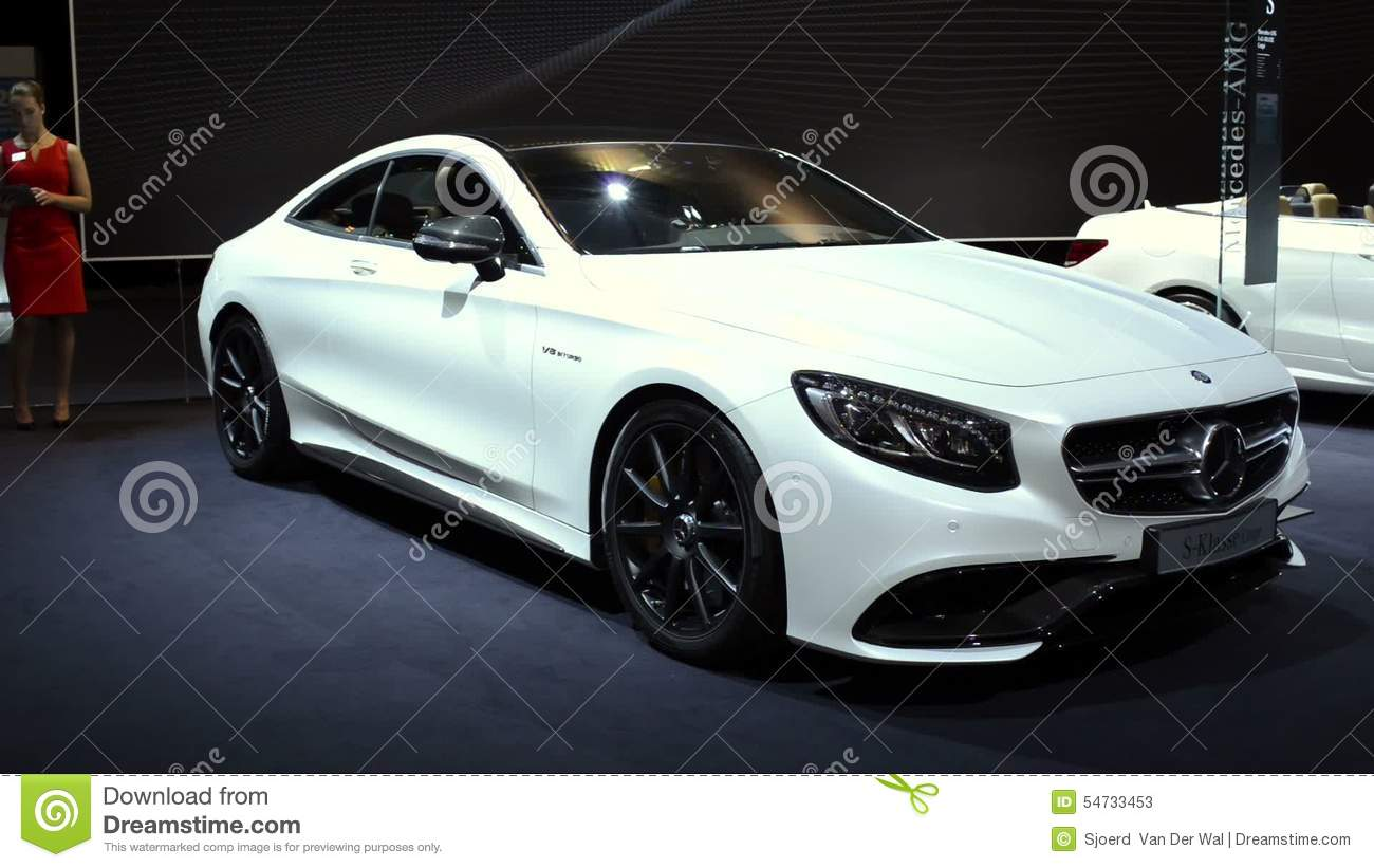 Mercedes-Benz S-Class Coupe Luxury Car Stock Video - Video: 54733453