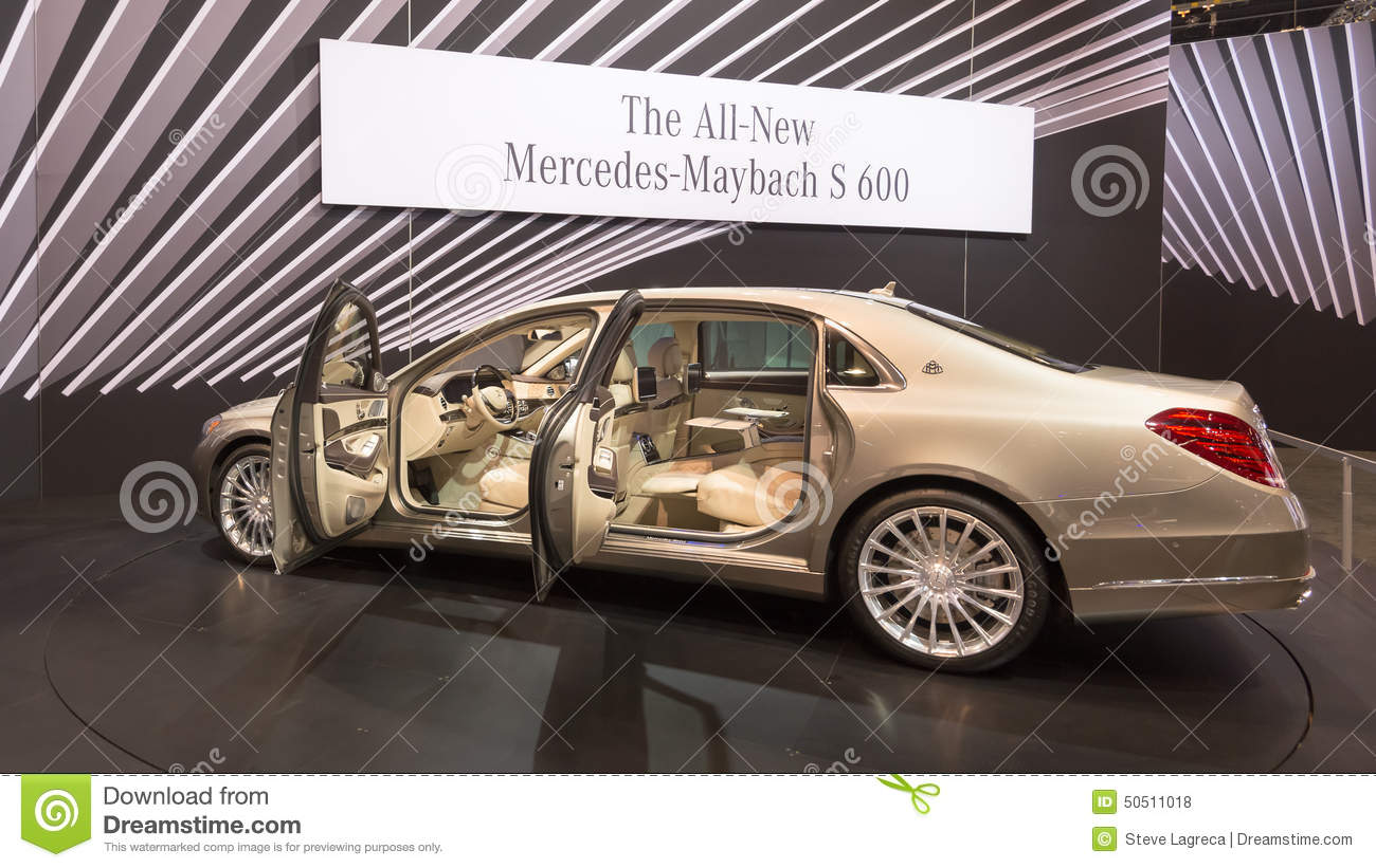 2016 Mercedes-Benz S-Class Maybach Editorial Stock Photo - Image ...